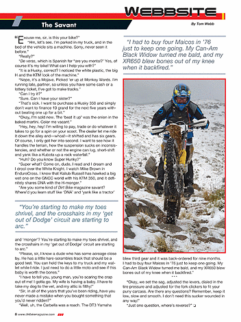 Dirt Bike Magazine - August 2015 - Page 8-9