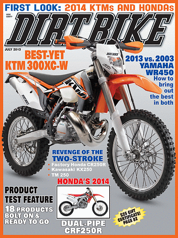 Dirt Bike Magazine - July 2013 - Front Cover