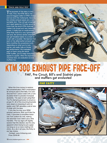 Dirt Bike Magazine - July 2014 - Page 72-73