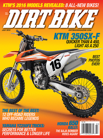 Dirt Bike Magazine - July 2015 - Front Cover