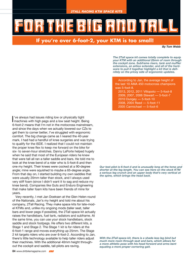 Dirt Bike Magazine - November 2014 - Page 84-85