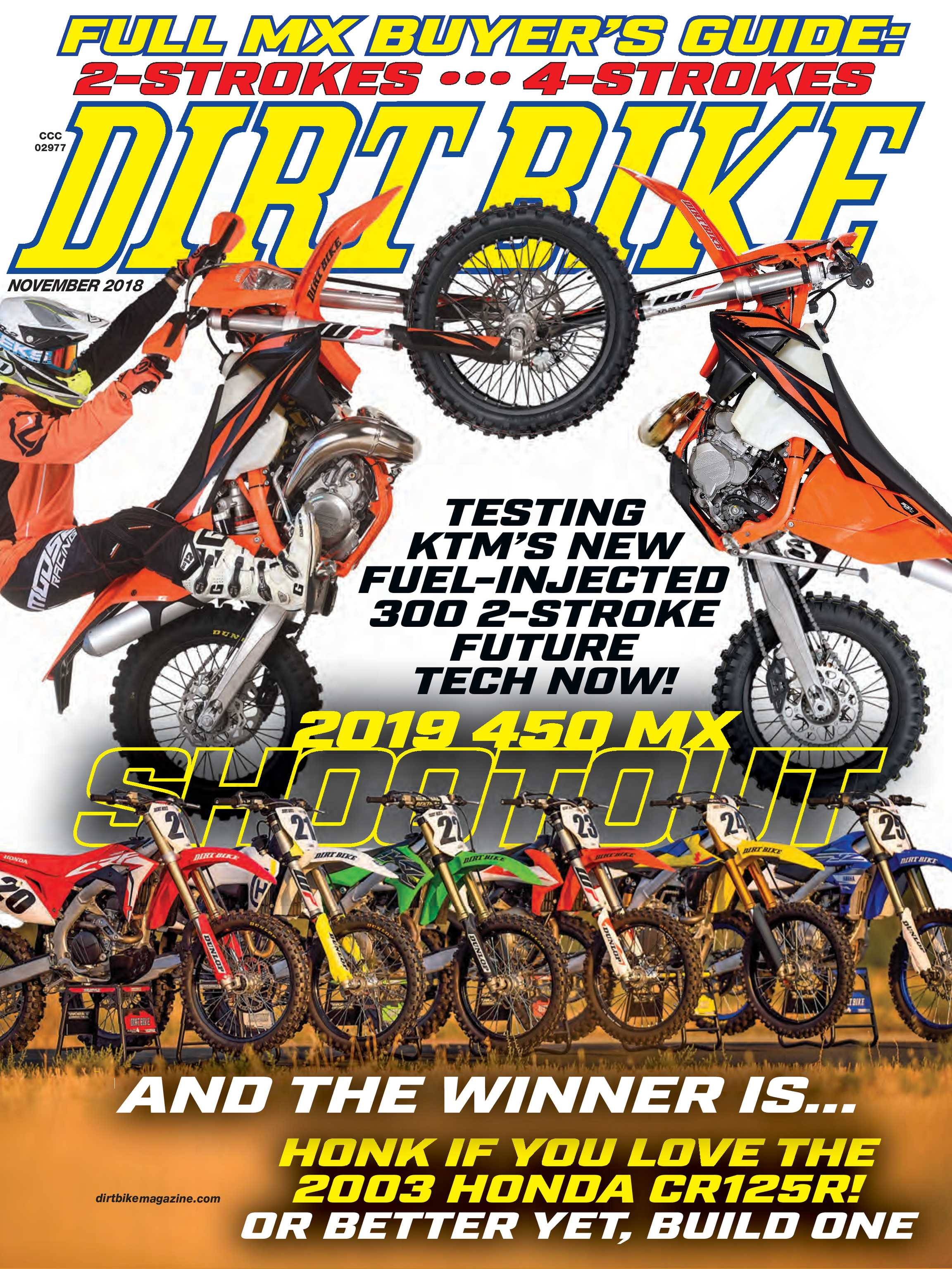 Dirt Bike Magazine - November 2018 - page Cover