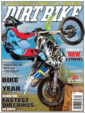 Dirt Bike Magazine - October 2013 - Front Cover