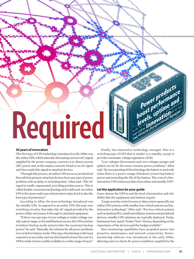 Electrical Contractor - August 2015 - Page 54-55