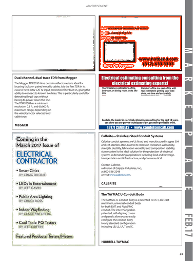Electrical Contractor - February 2017 - Page 68-69