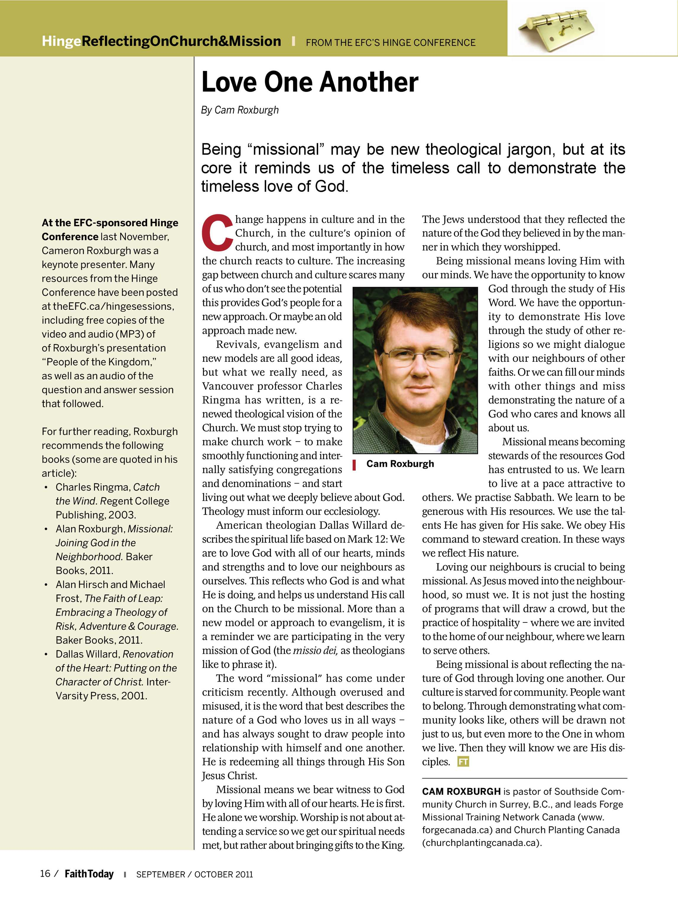 Faith Today - September/October 2011 - page 16
