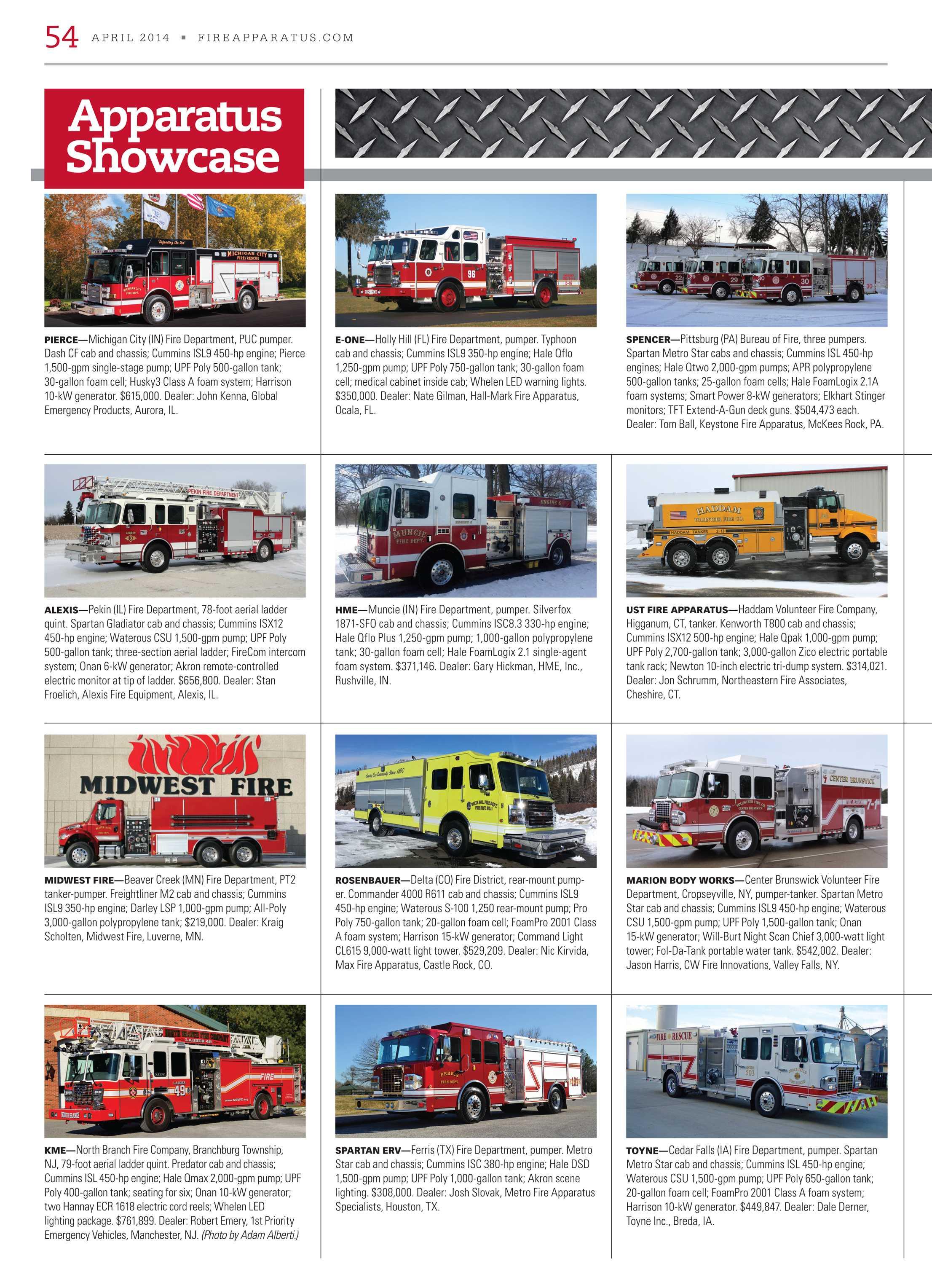 Fire Apparatus Magazine - April 2014 - page 54