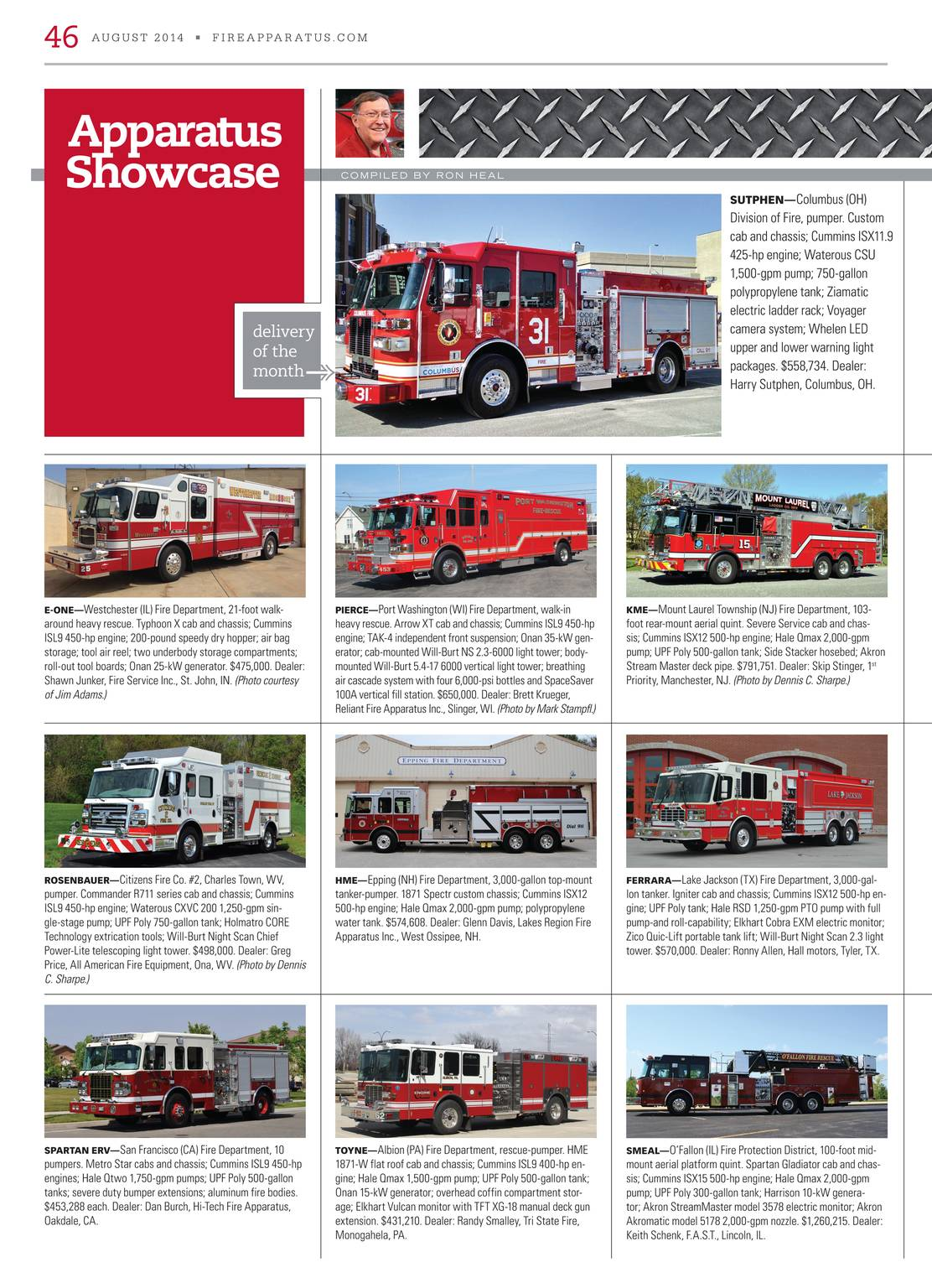 Fire Apparatus Magazine - August 2014 - page 47