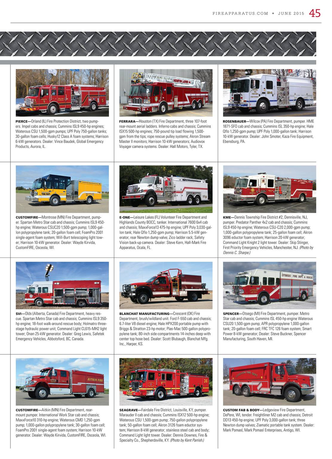 Fire Apparatus Magazine - June 2015 - page 44