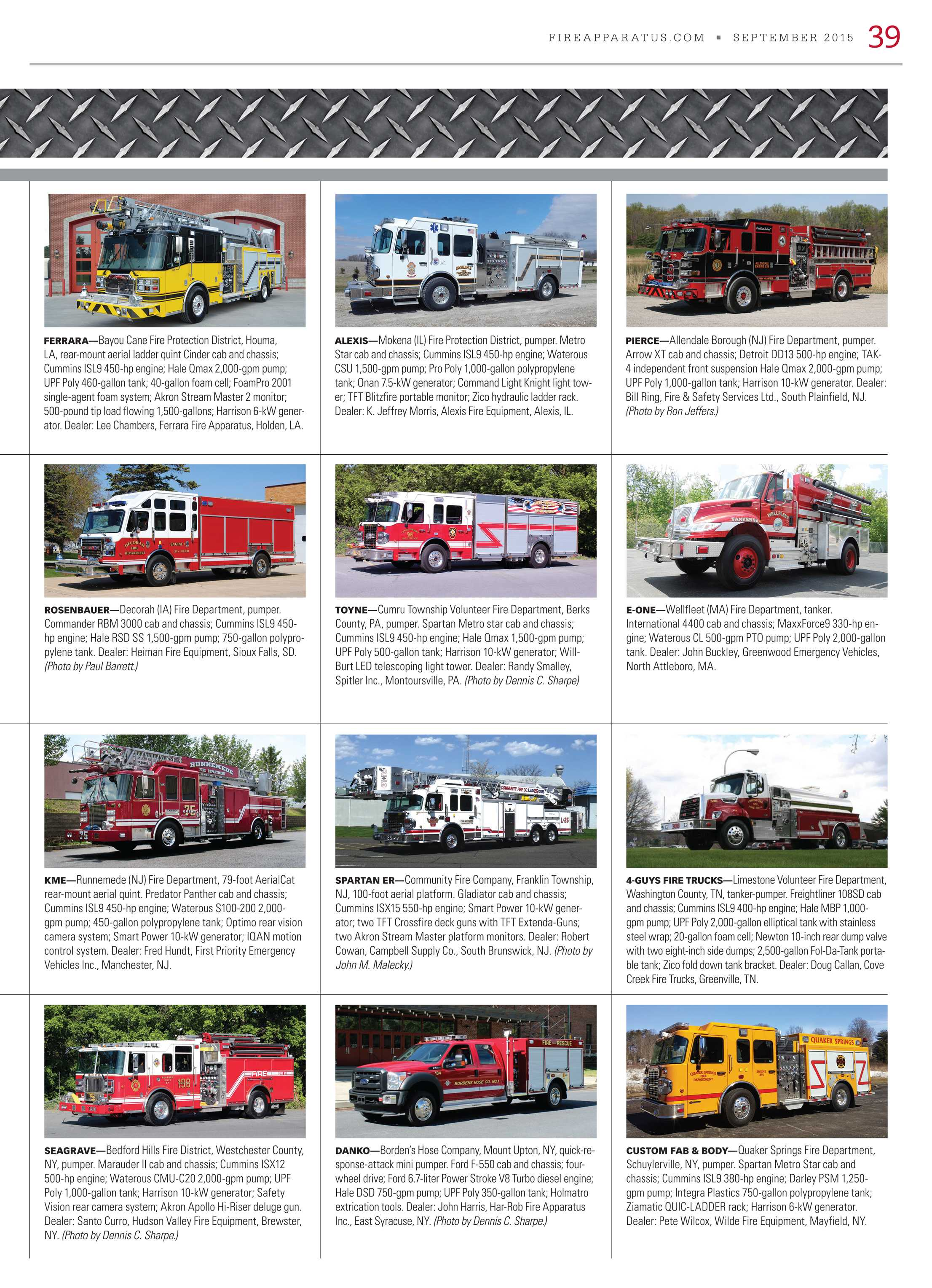 Fire Apparatus Magazine - September 2015 - page 39