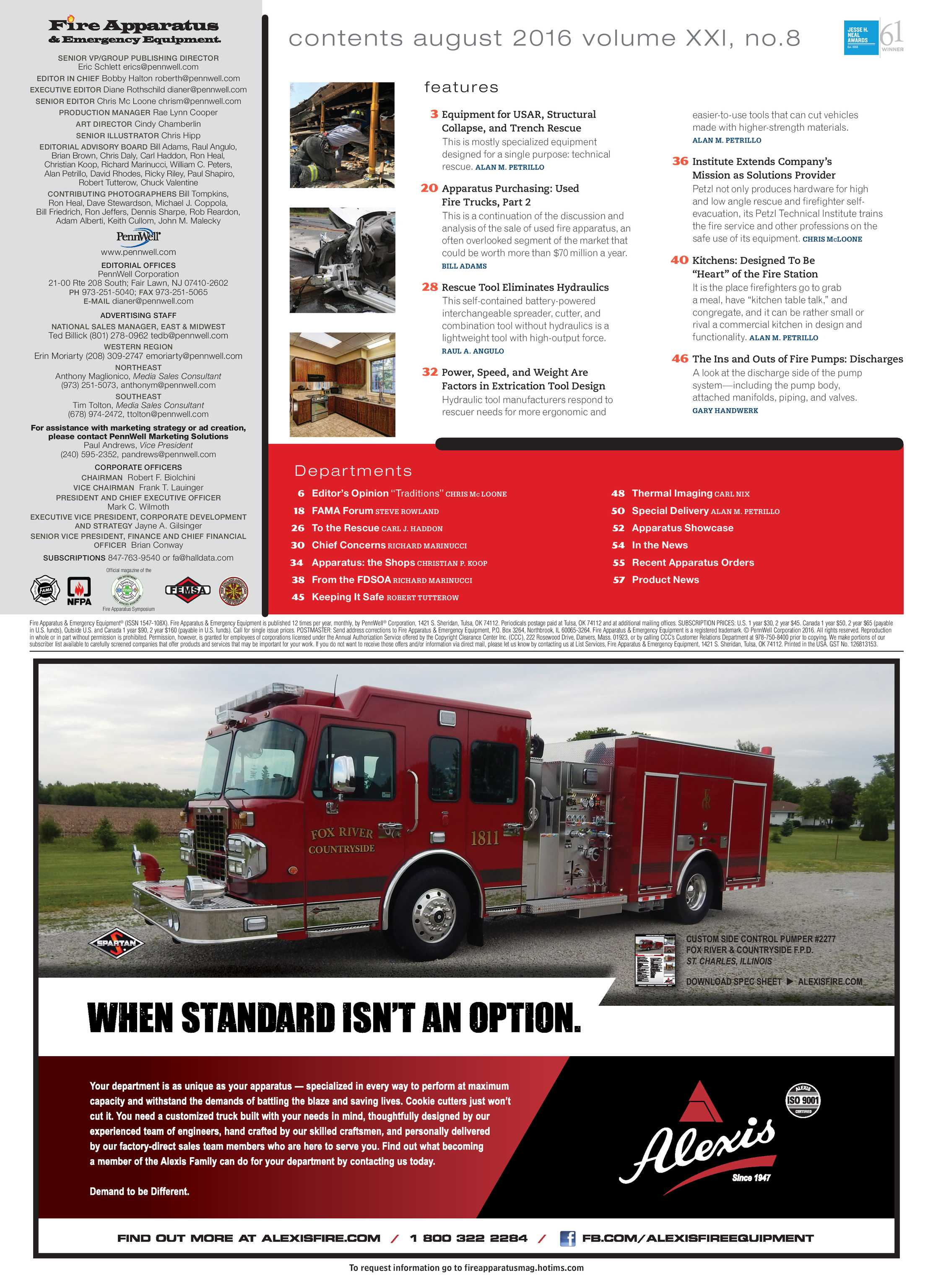 Fire Apparatus Magazine - August 2016 - page 5