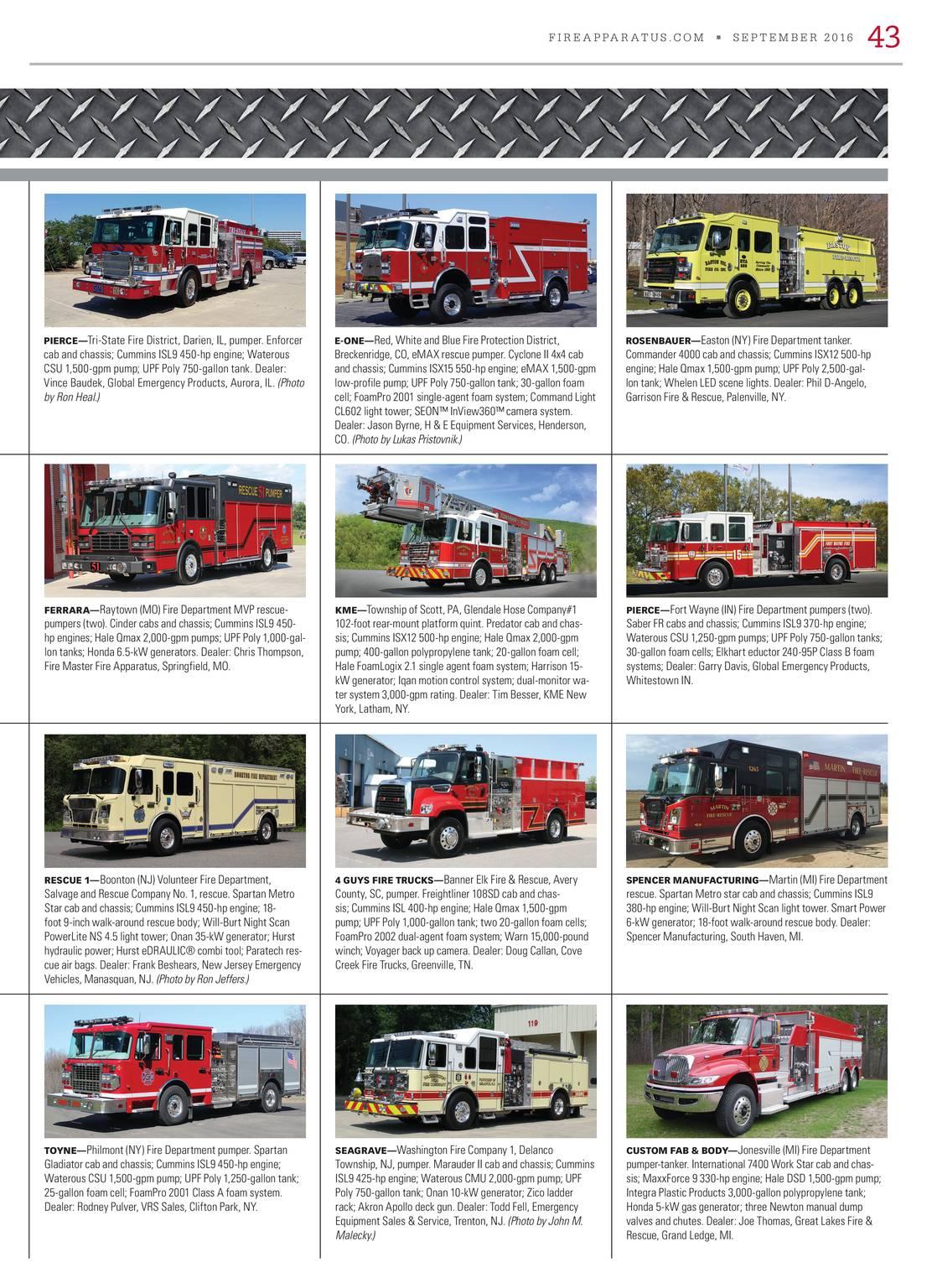 Fire Apparatus Magazine September 2016 Page 44 International 7400 Air Tank Schematic 43
