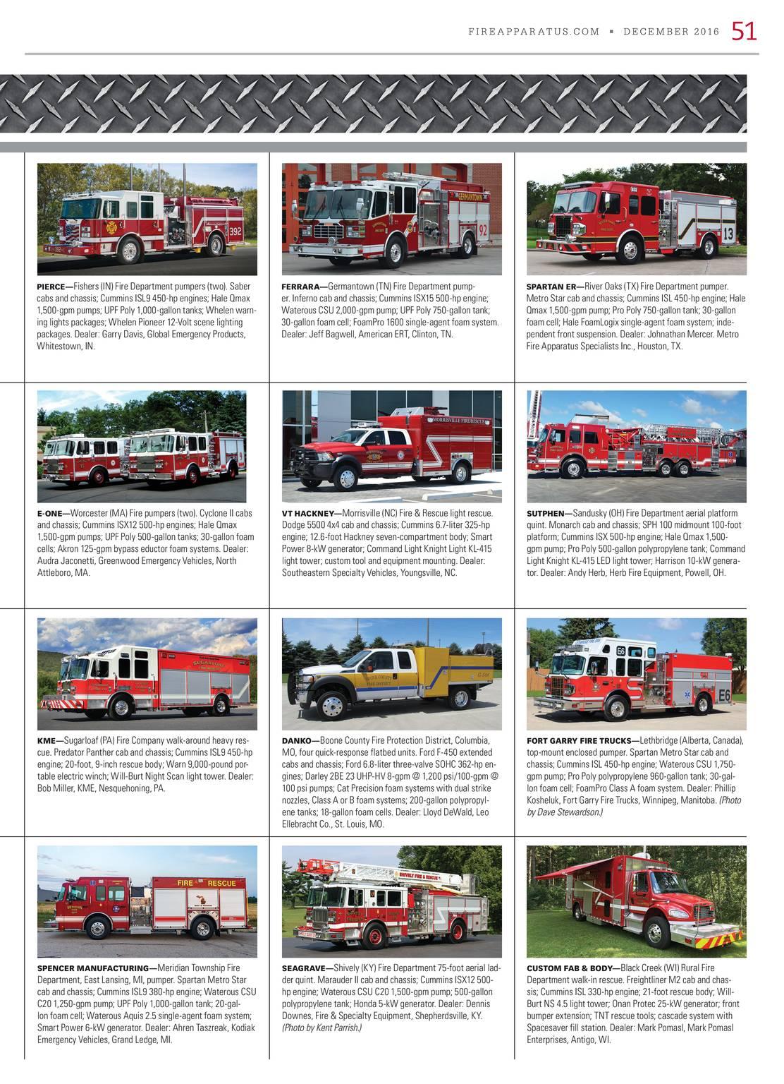Fire Apparatus Magazine - December 2016 - page 52