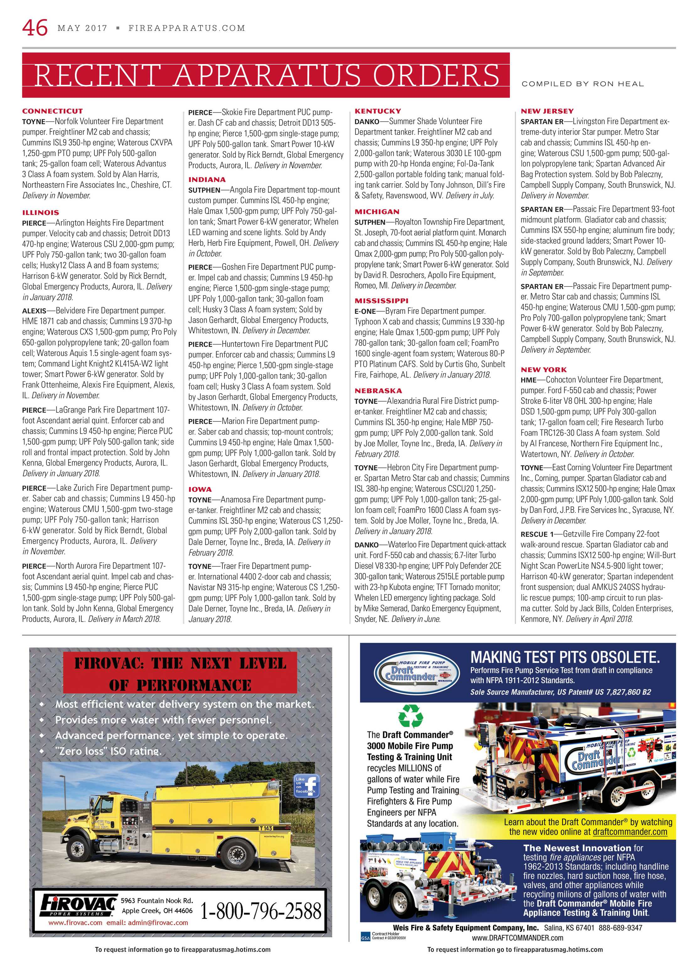 Fire Apparatus Magazine - May 2017 - page 46
