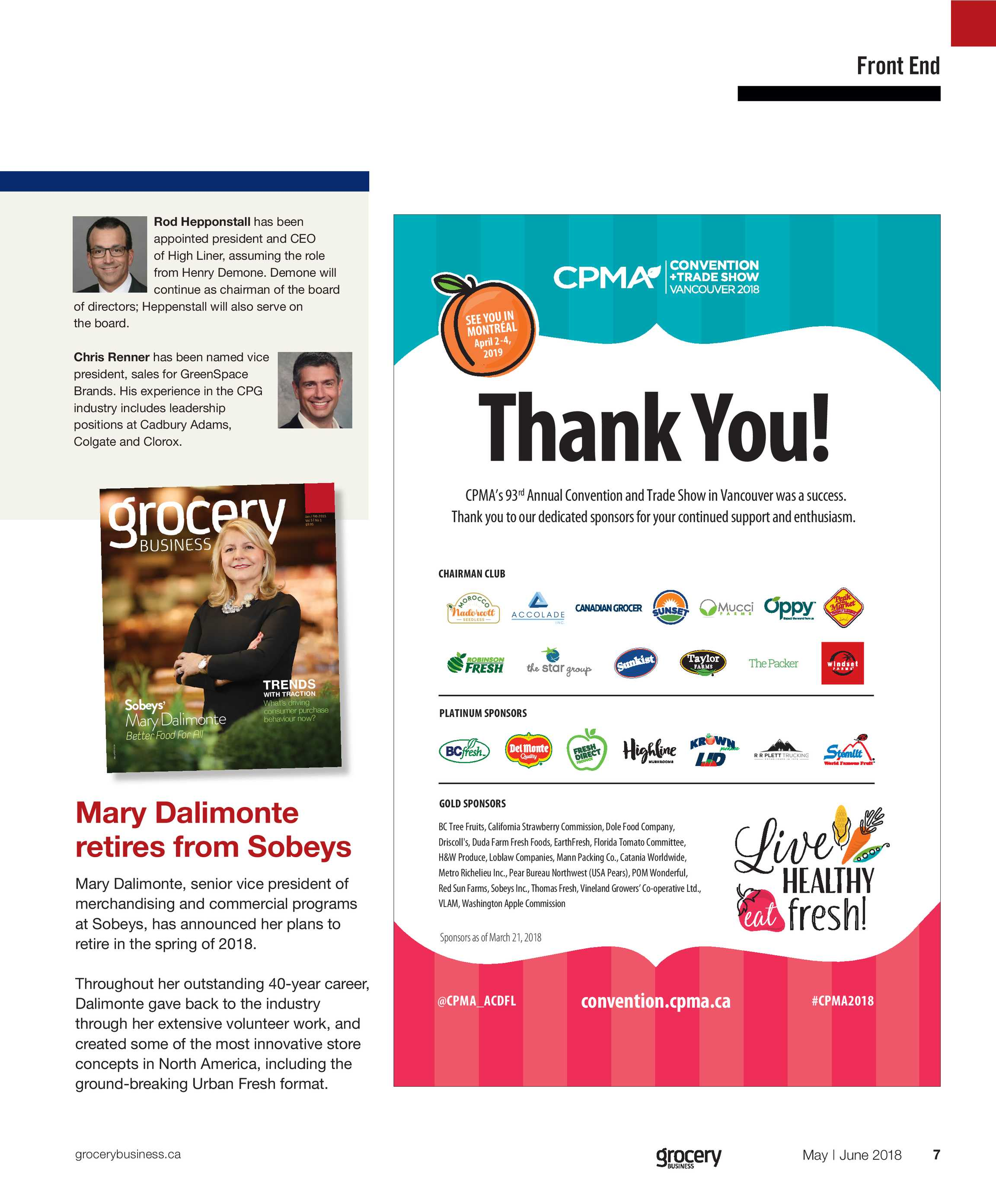Grocery Business Magazine - May/June 2018 - page 6