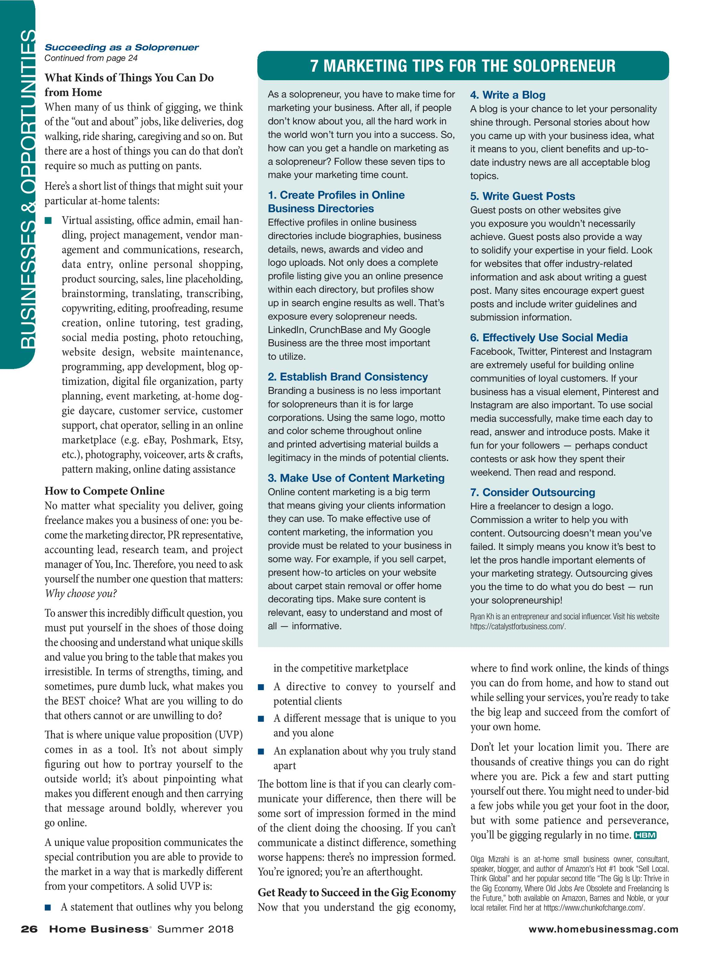 Home Business Magazine - Summer 2018 - page 26