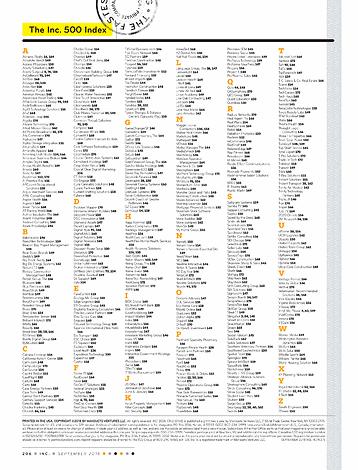 Inc  magazine - Sep 2018