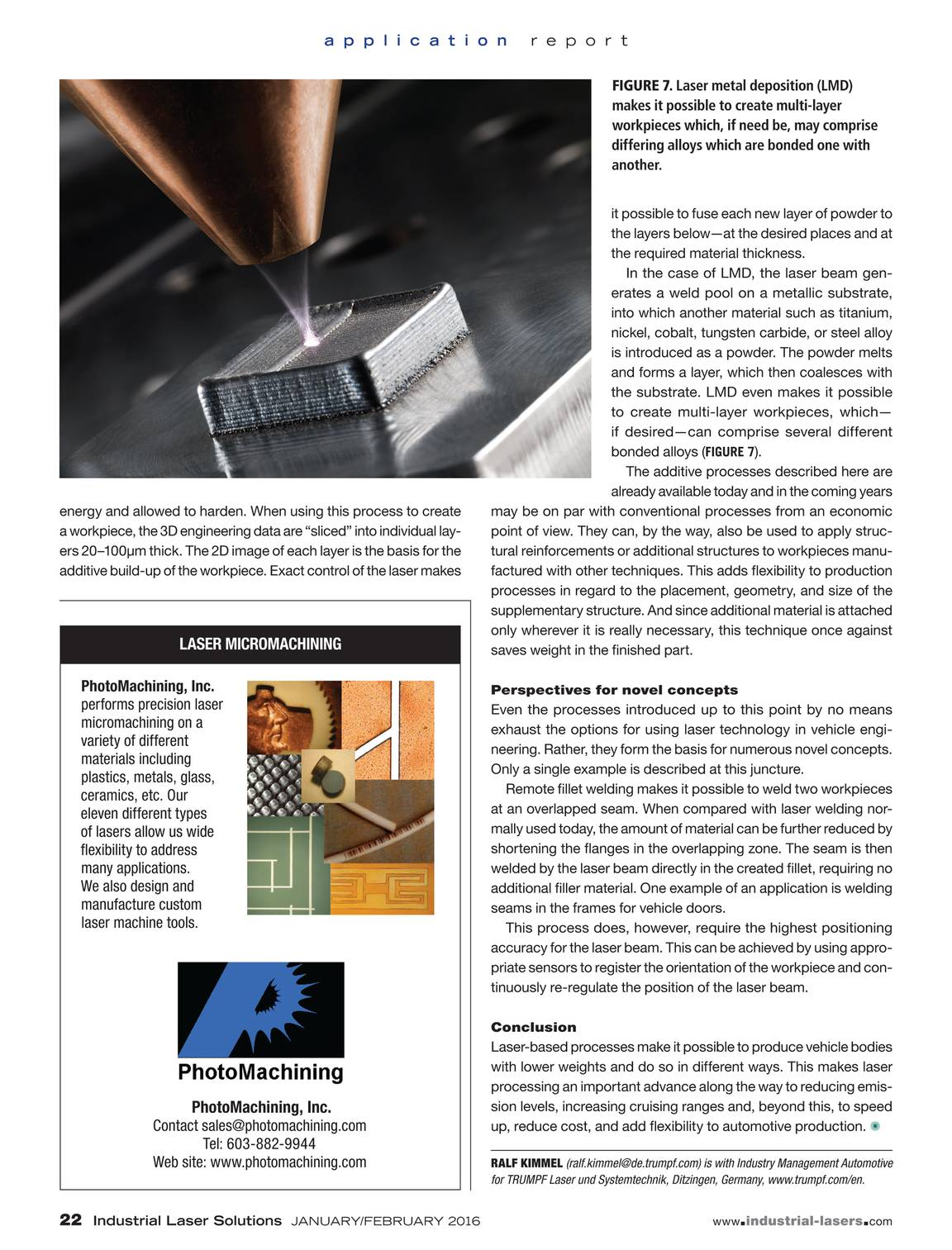 Industrial Laser Solutions - January/February 2016 - page 21