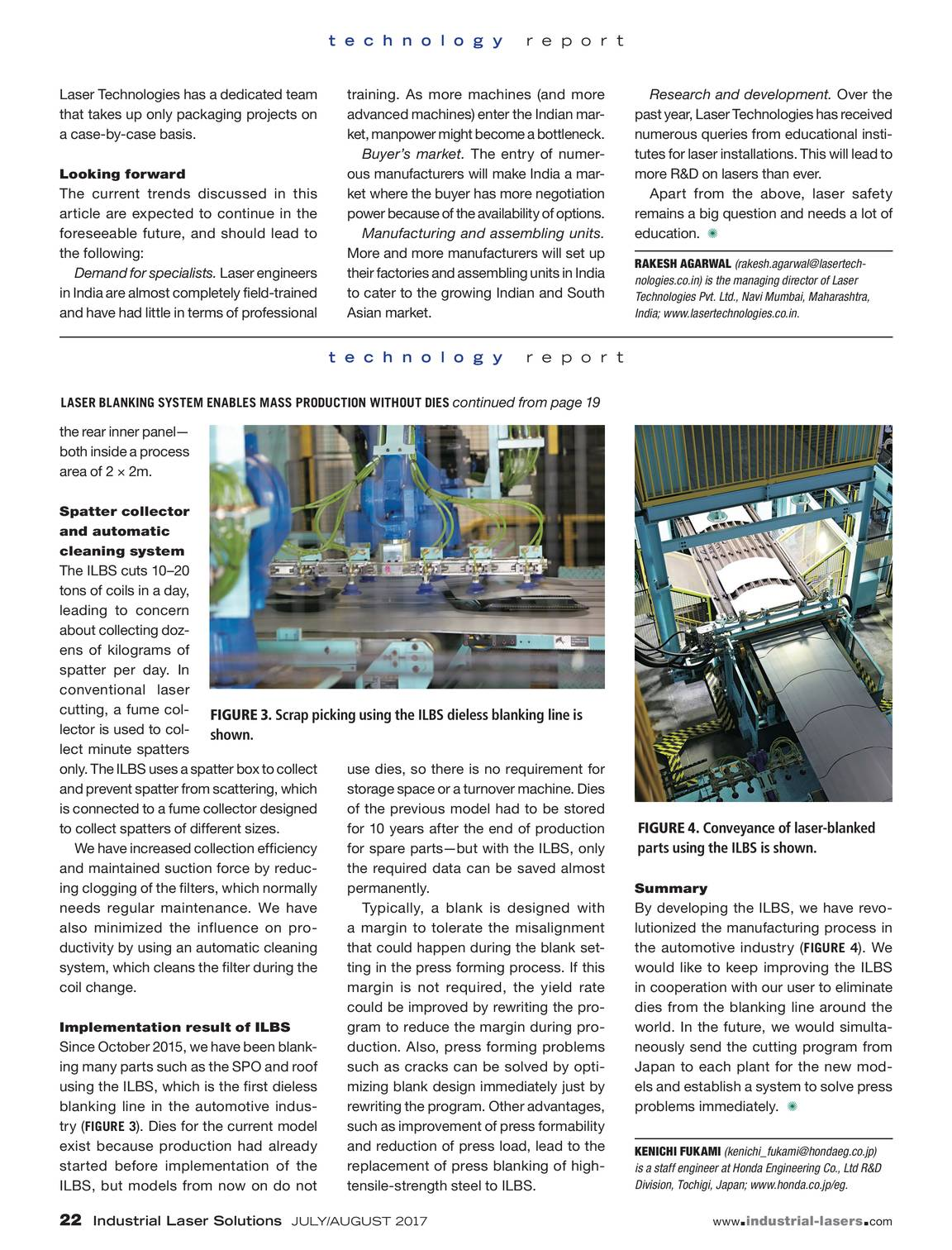 Industrial Laser Solutions - July/August 2017 - page 21