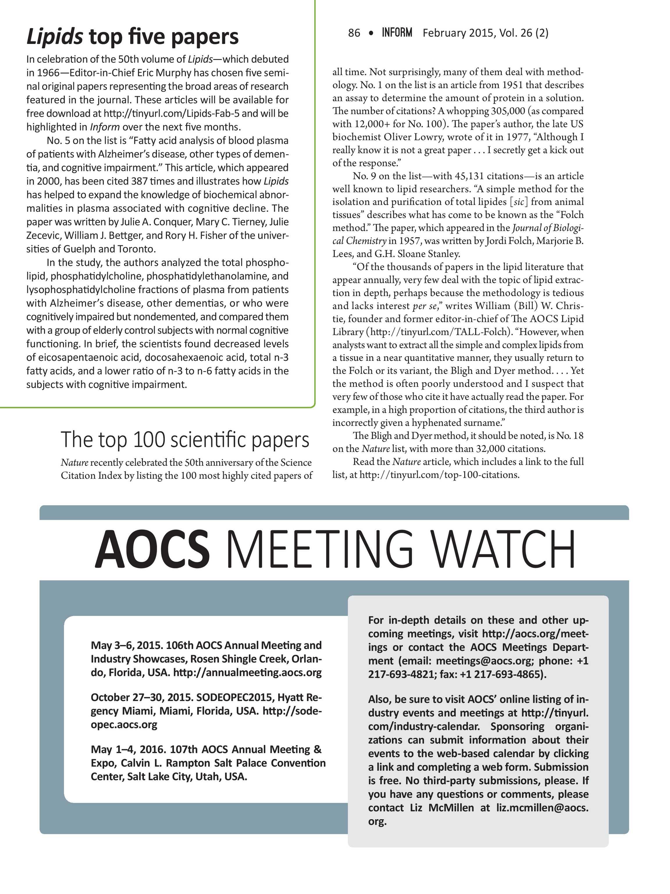 Inform Magazine - February 2015 - page 86