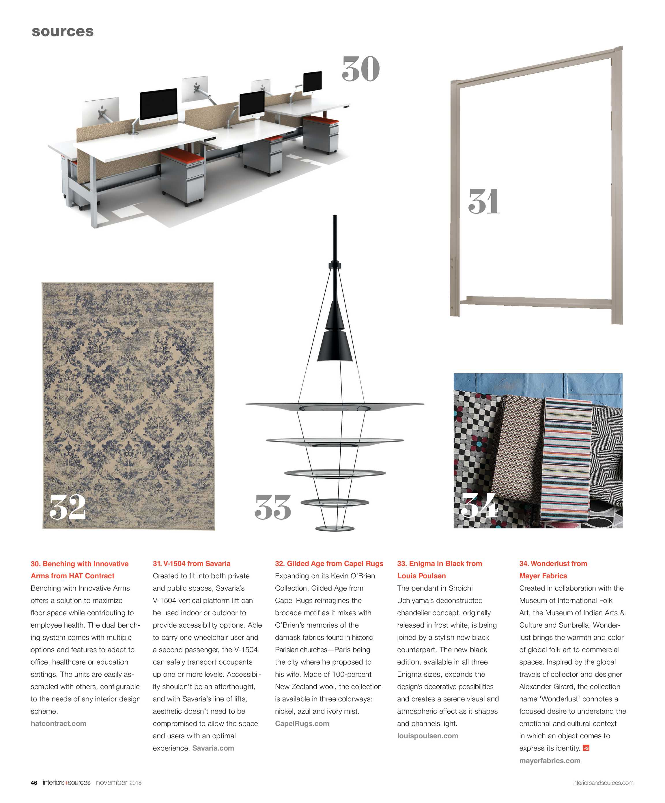 Interiors and Sources - November 2018 - page 46