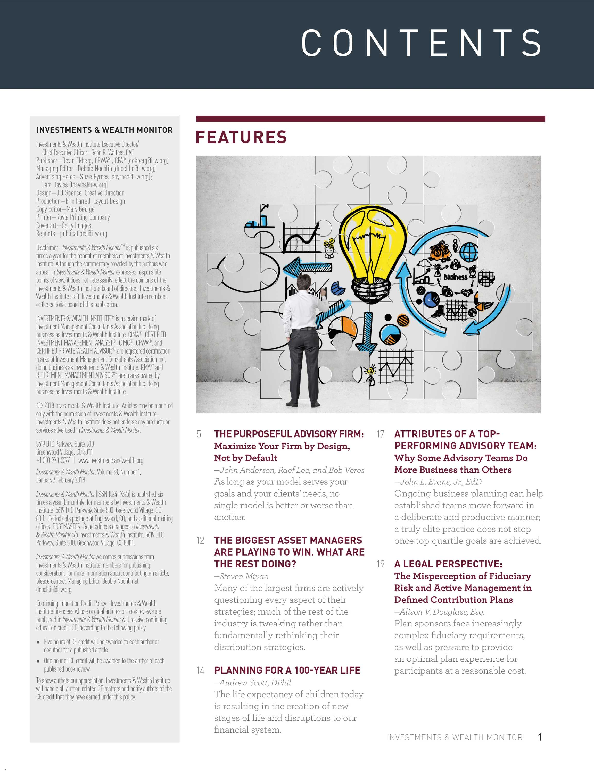 Investments & Wealth Monitor - January/February 2018 - page 1