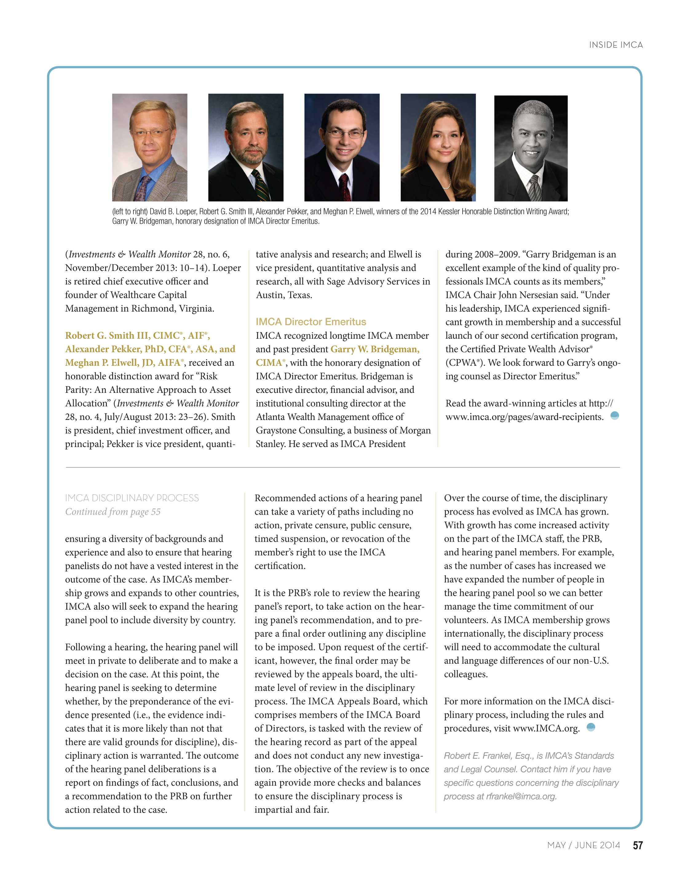 Investments & Wealth Monitor - May/June 2014 - page 56