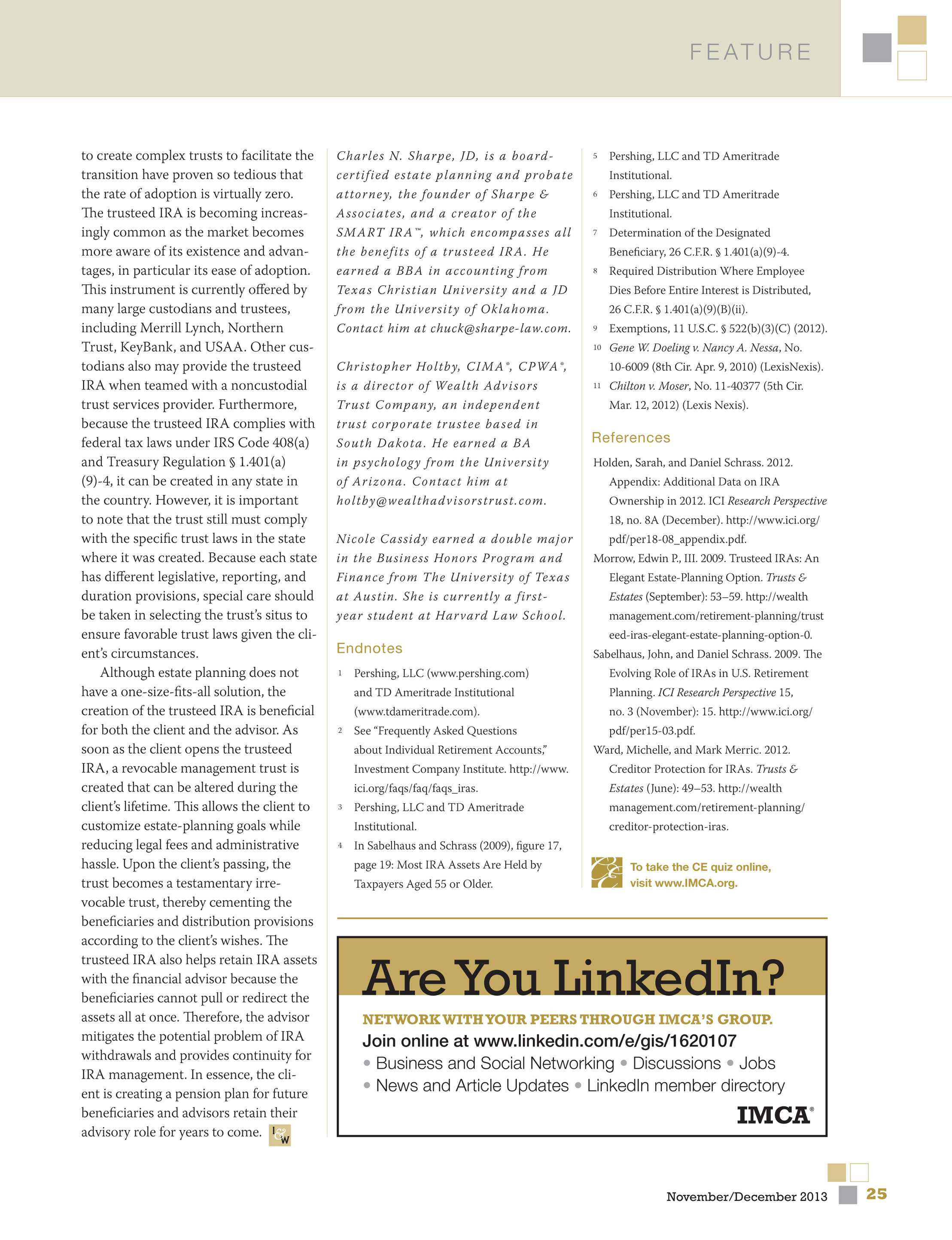 Investments & Wealth Monitor - November/December 2013 - page 26