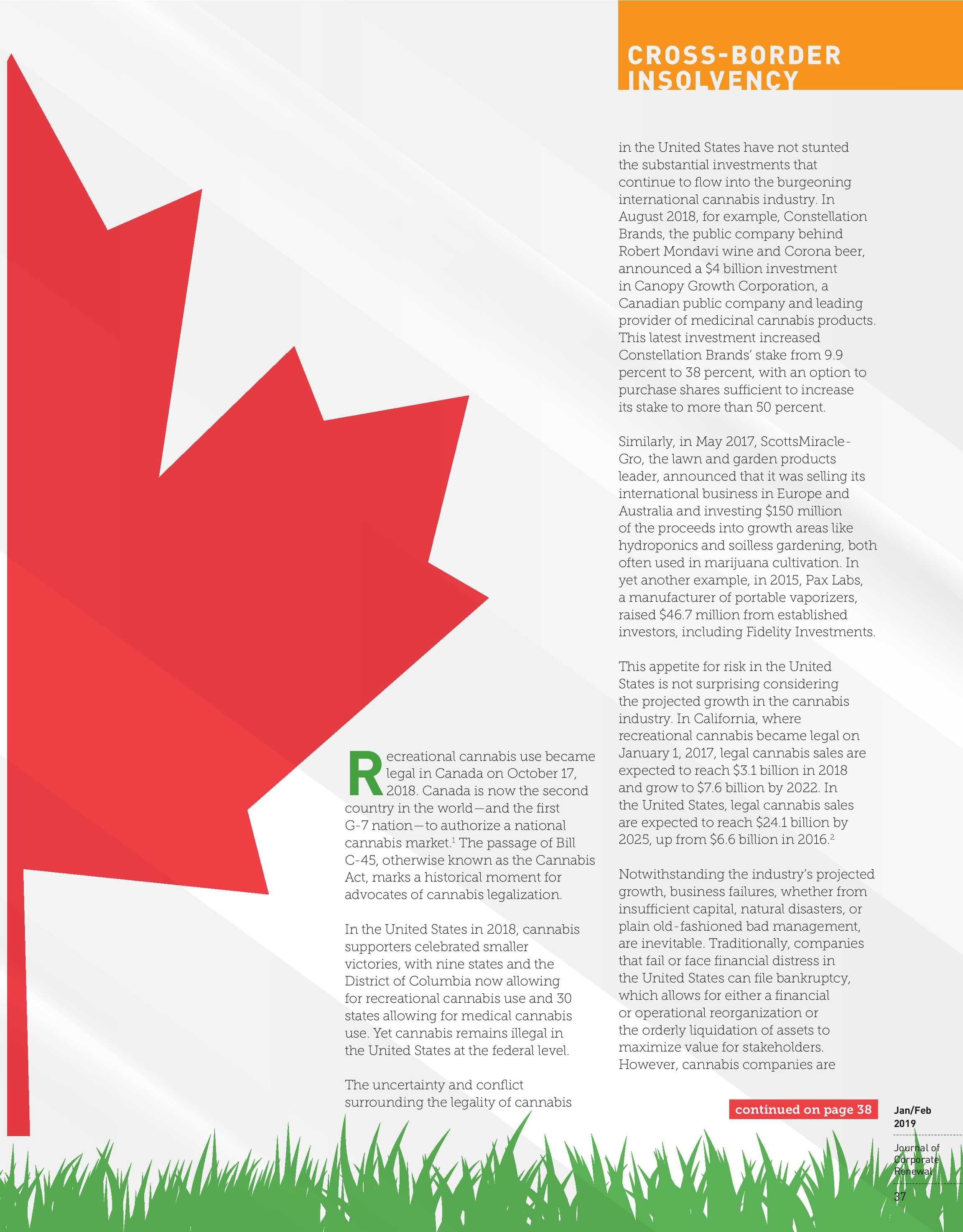 Journal of Corporate Renewal - January/February 2019 - page 36