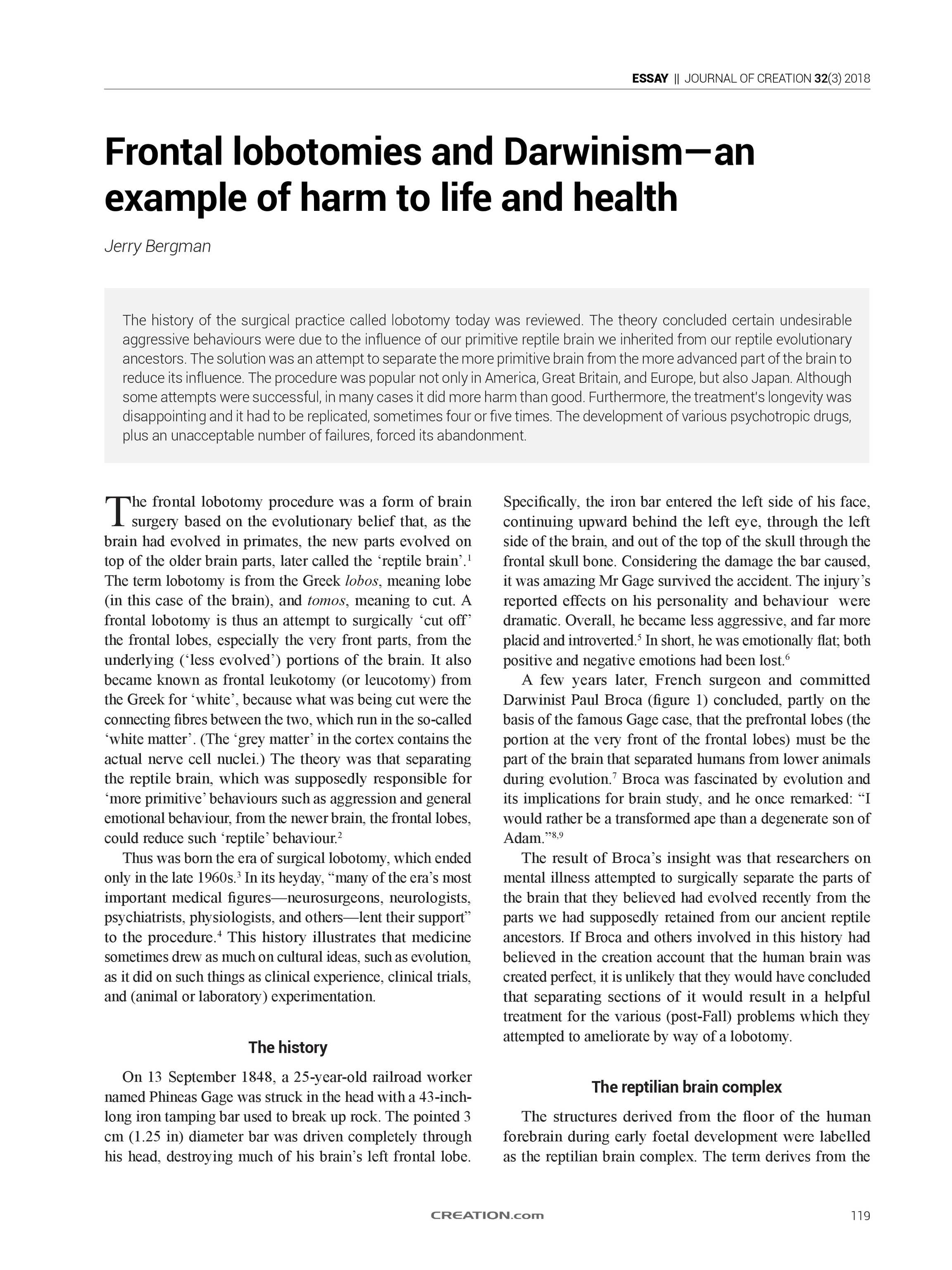 Journal of Creation - 2018 Volume 32 Issue 3 - page 119