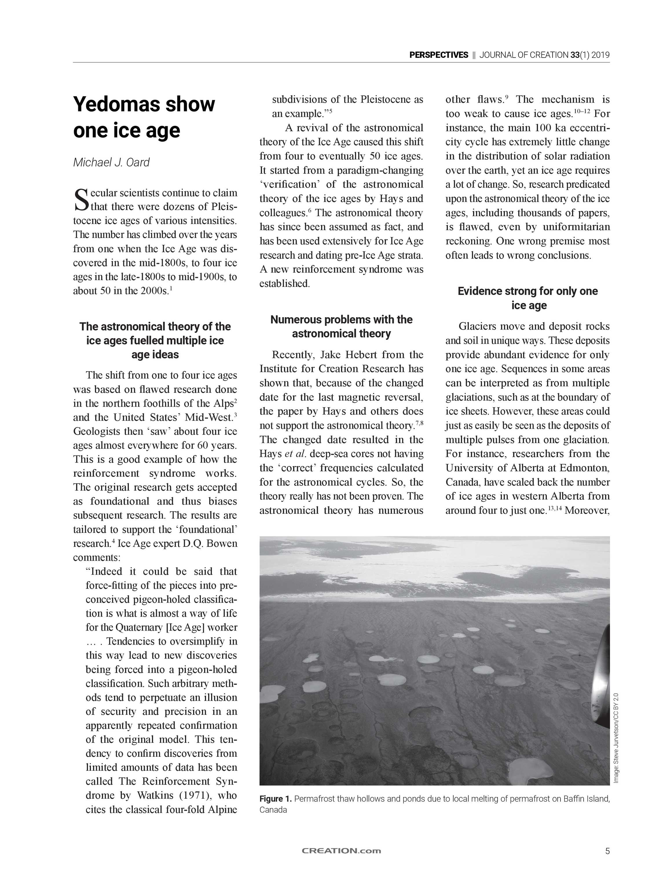 Journal of Creation - 2019 Volume 33 Issue 1 - page 5