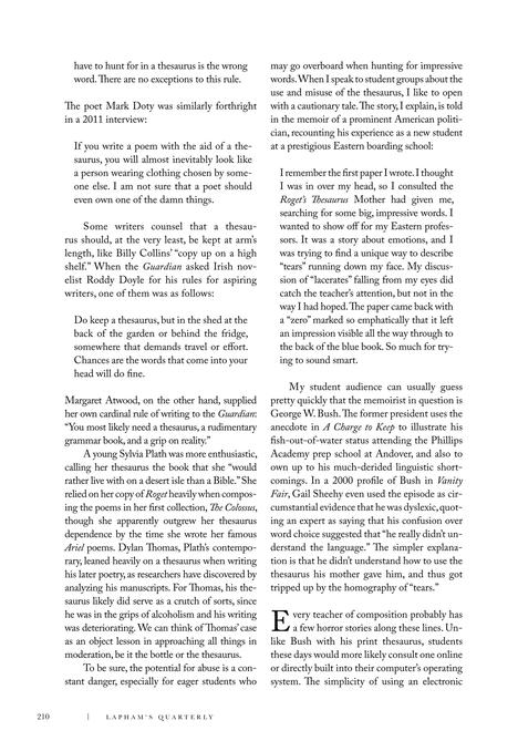 Laphams Quarterly - Spring 2012 - Page 212-213