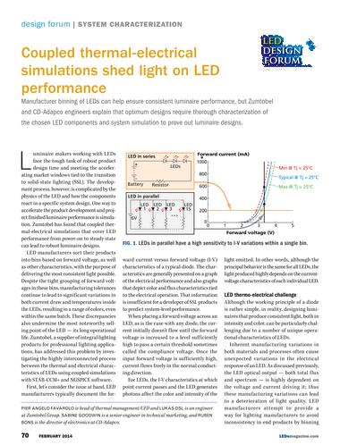 LEDs Magazine - February 2016 - Page 70-71