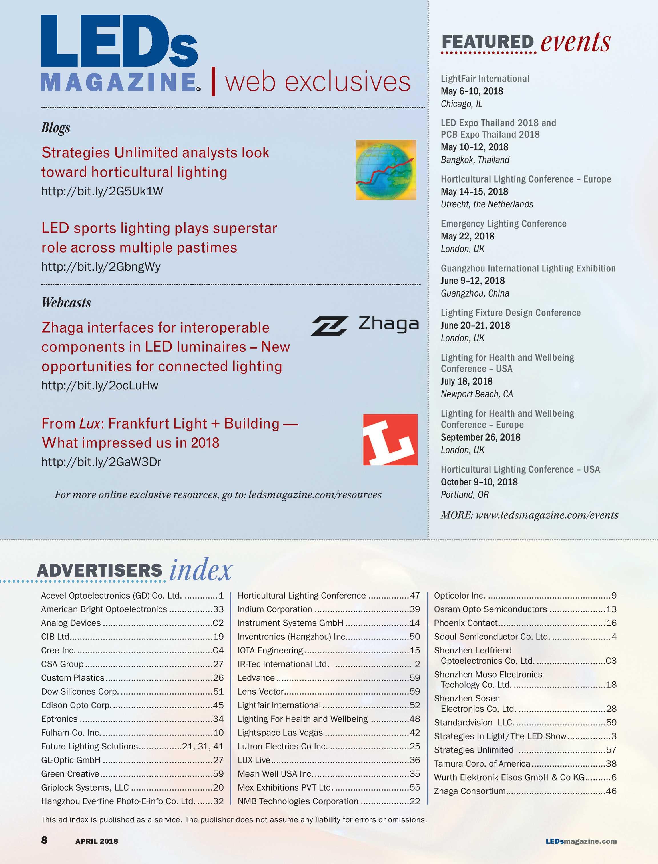 LEDs Magazine - April 2018 - page 7