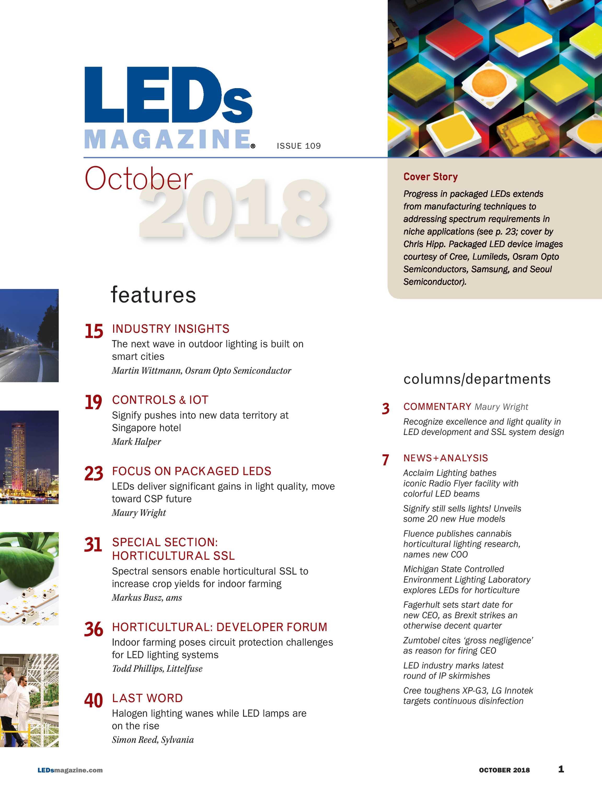 Leds Magazine October 2018 Page 1 Led Light System Circuit