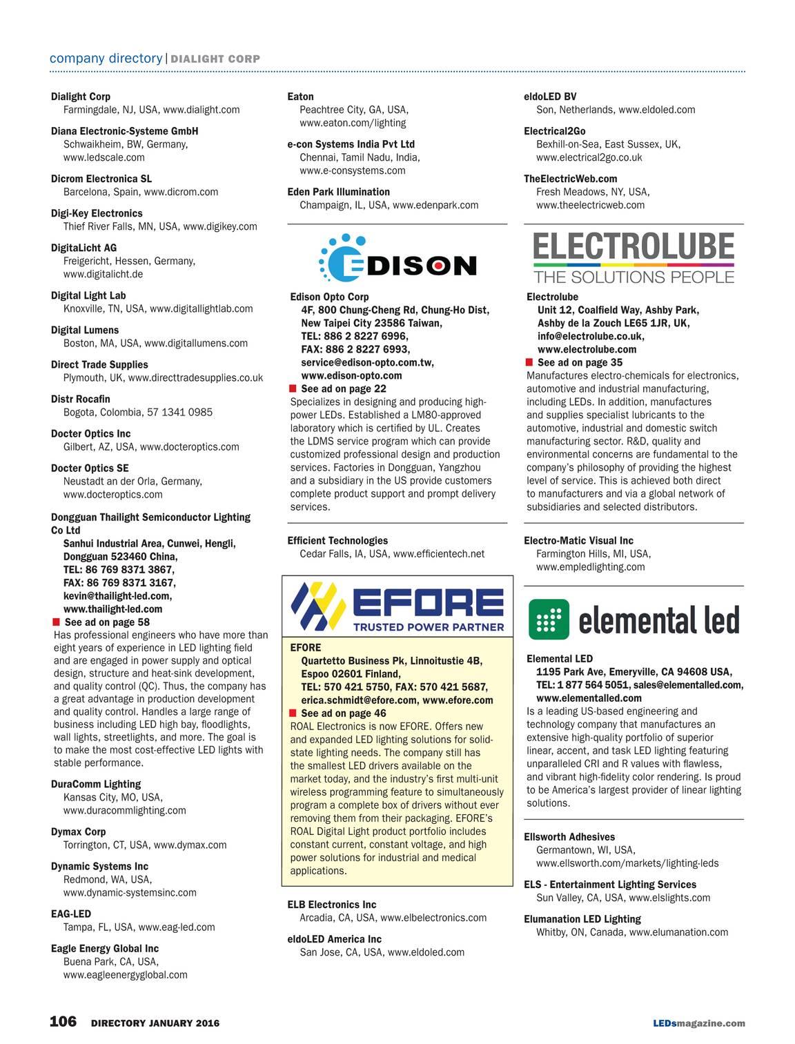 LEDs Magazine - January 2016 - page 107