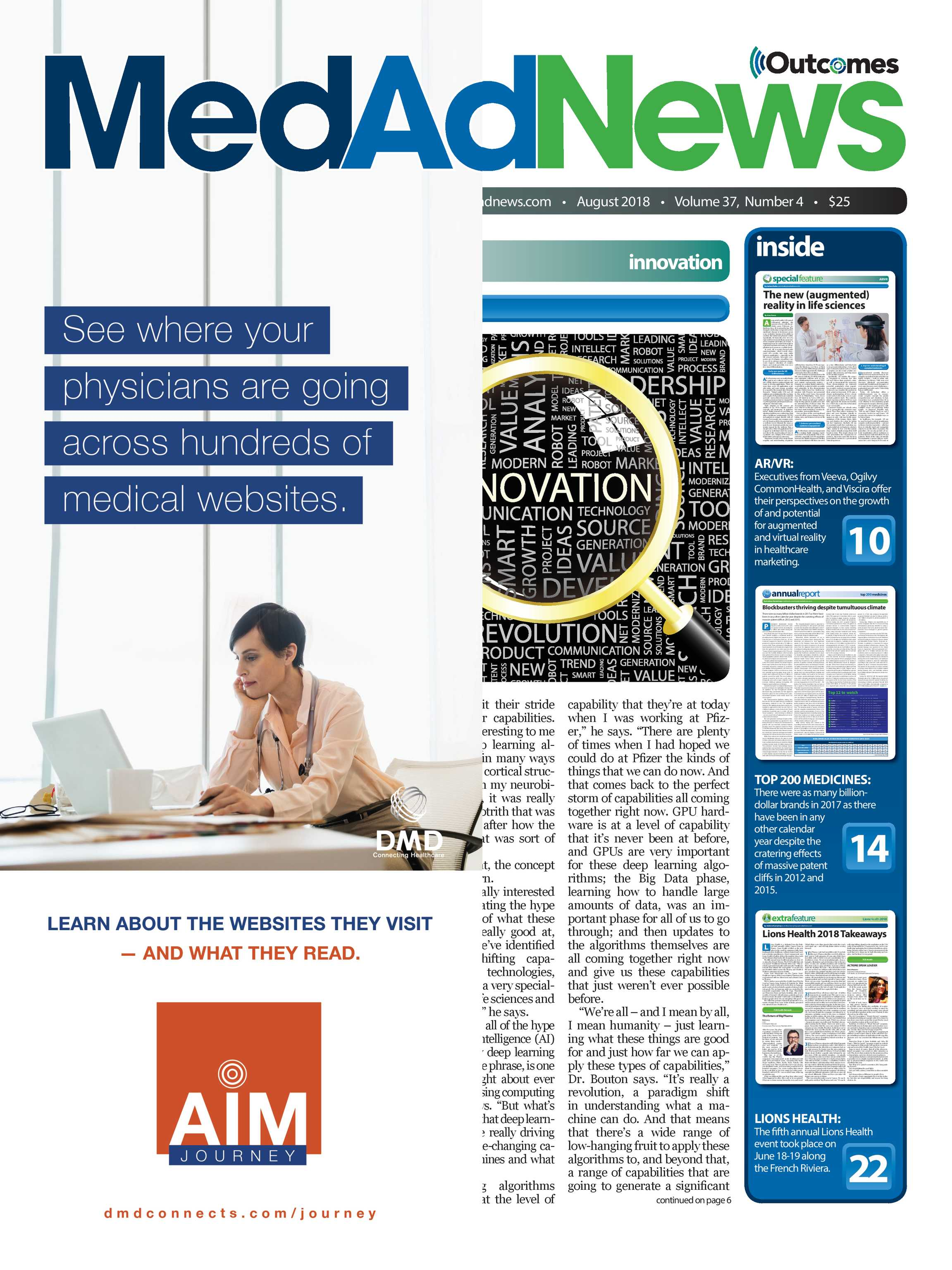 Despite Dearth Of Data Firms Sell Brain >> Med Ad News December 2018 Page Cover