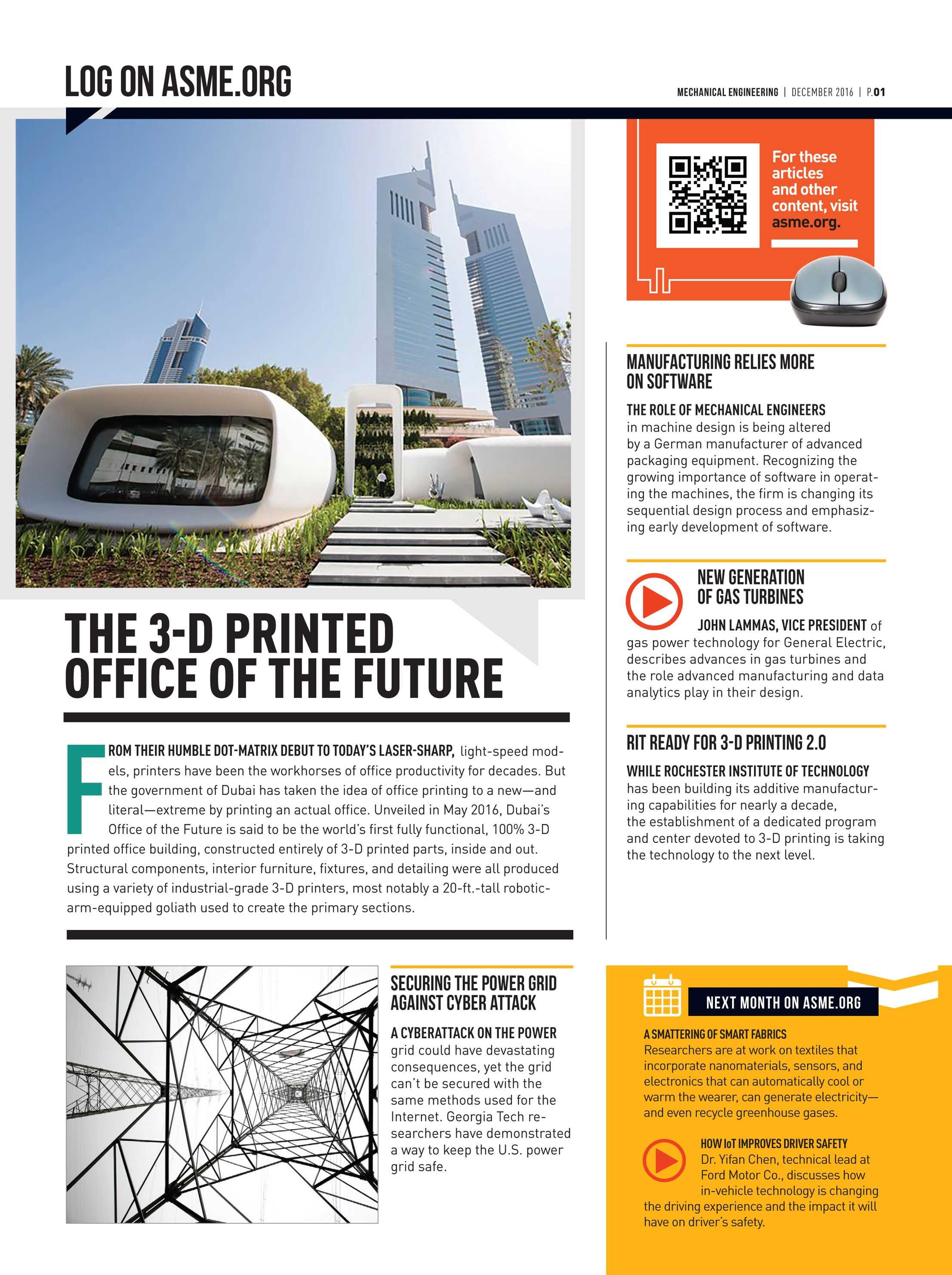 Mechanical Engineering Magazine December 2016 Page 1