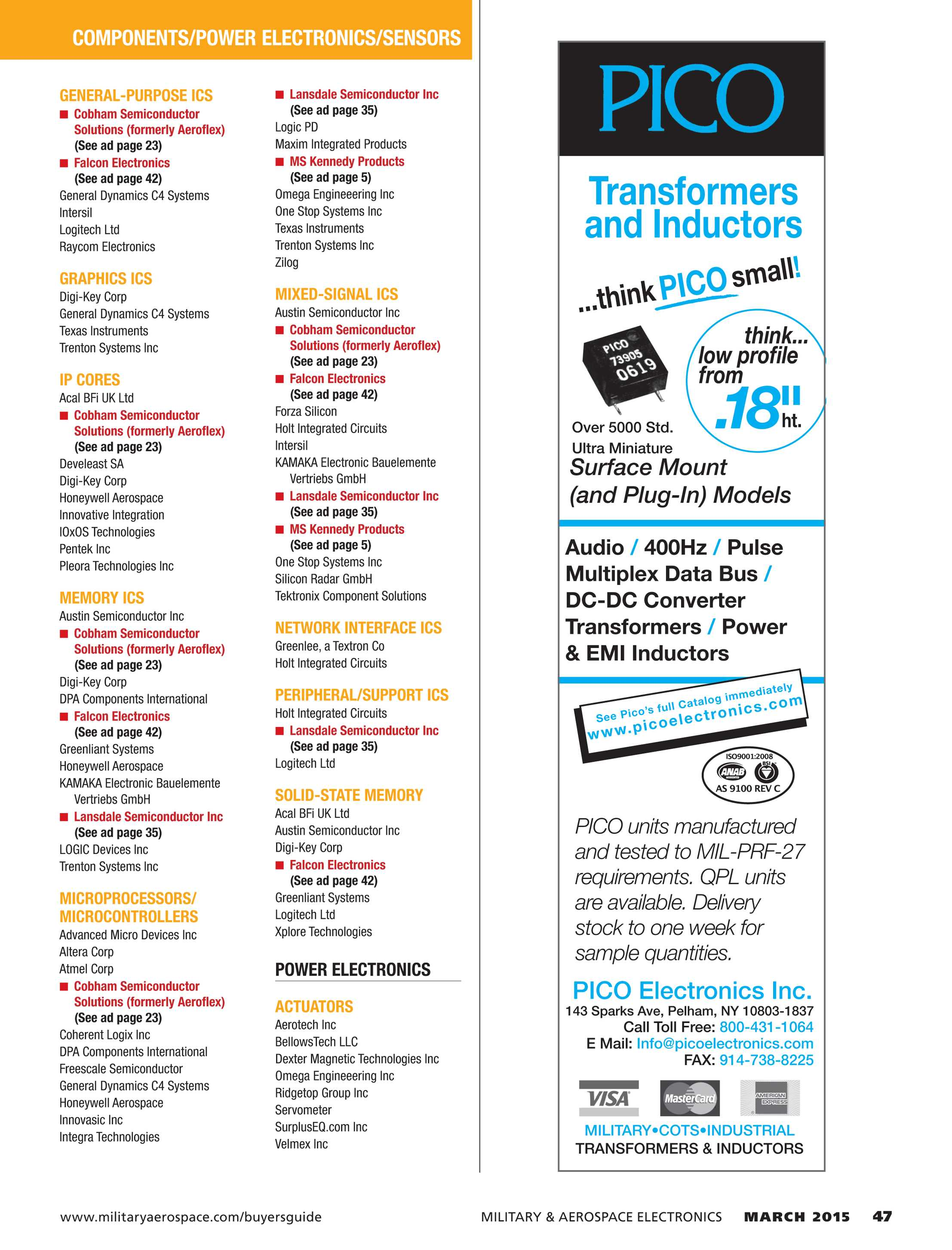 Military & Aerospace Electronics - March 2015 - page 47