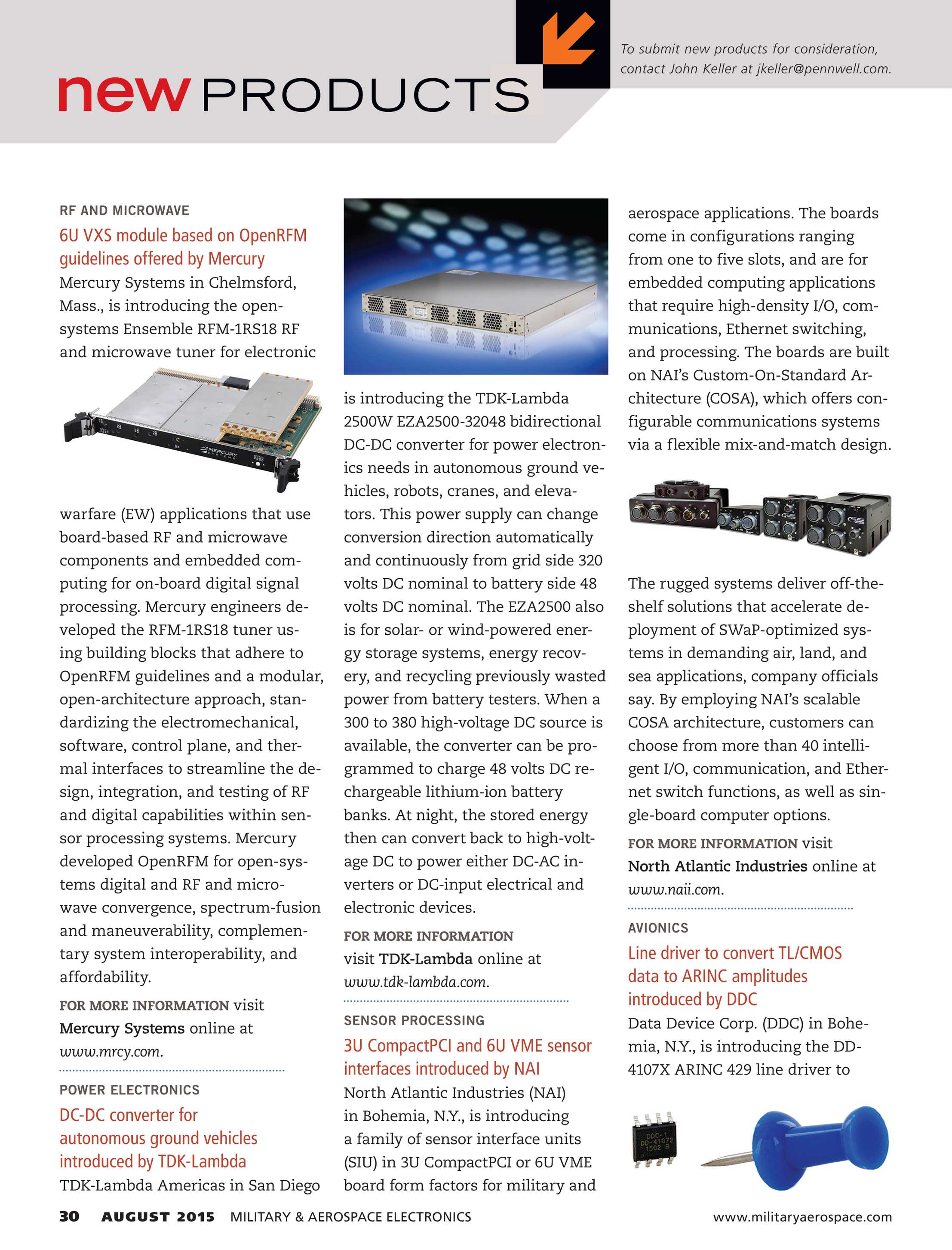 Military & Aerospace Electronics - August 2015 - page 30
