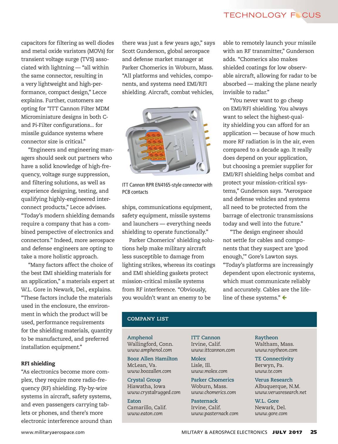 Military Aerospace Electronics July 2017 Page 24 Raytheon Wiring Harness 25