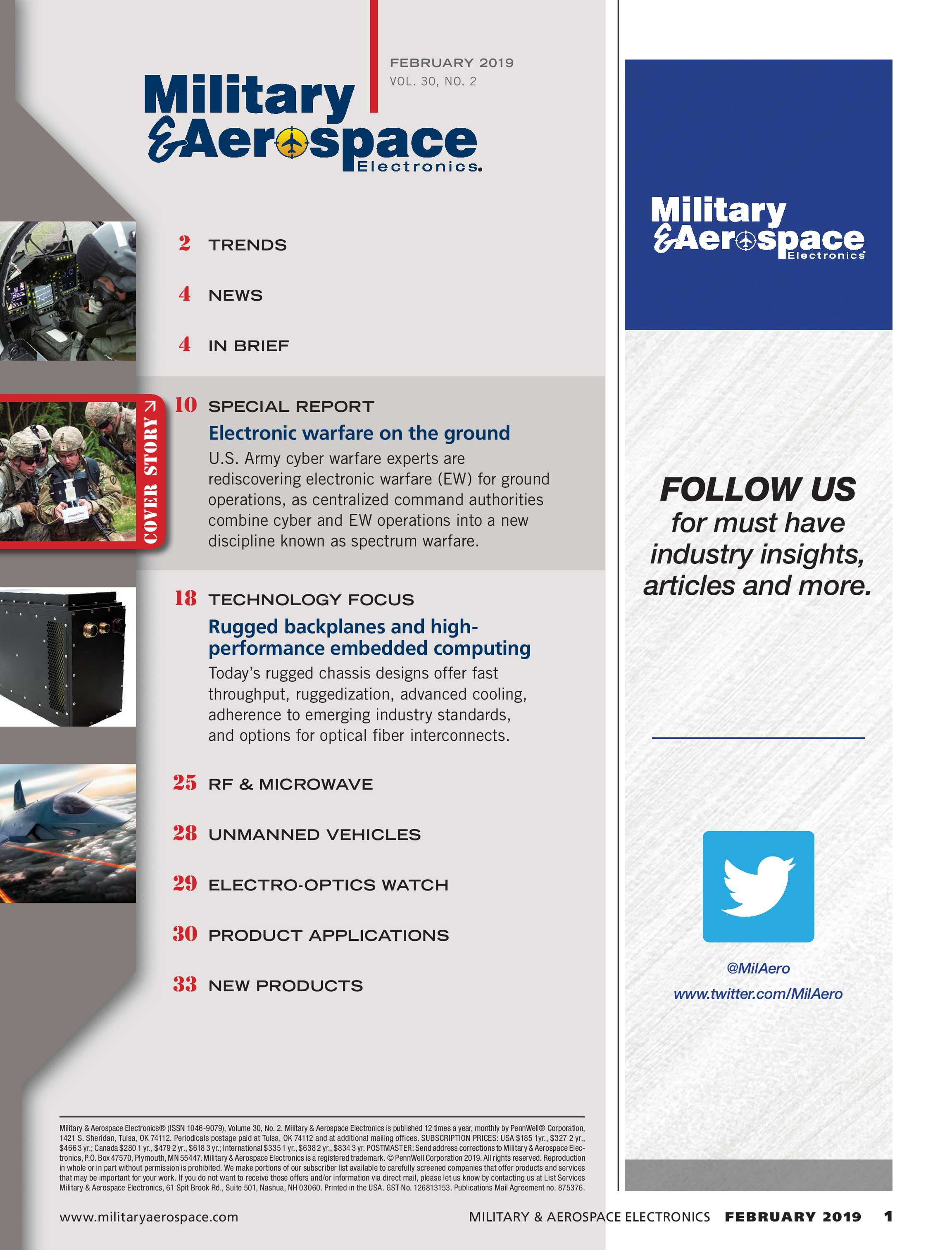 Military & Aerospace Electronics - February 2019 - page 1