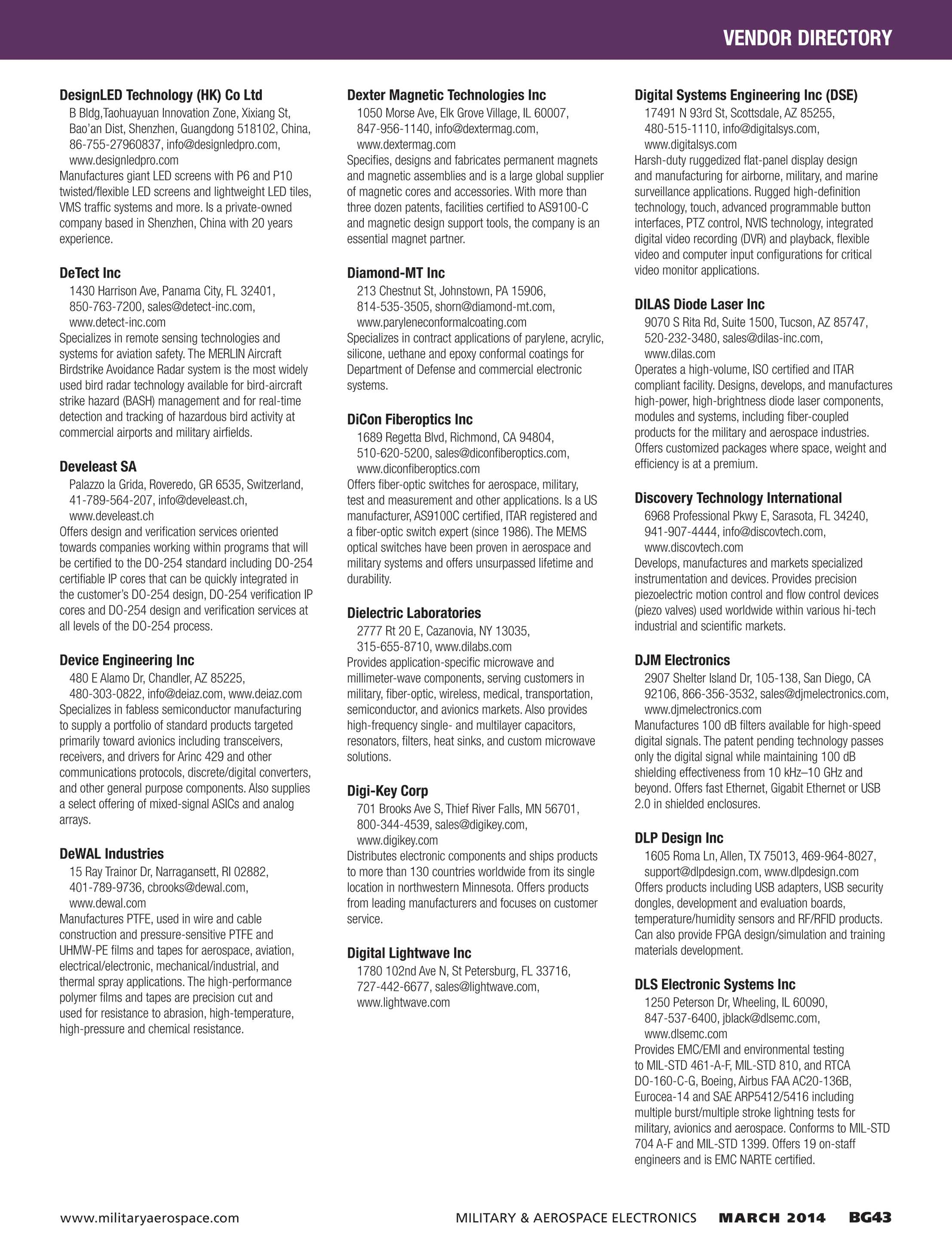 Military & Aerospace Electronics - Buyers Guide 2014 - page BG43