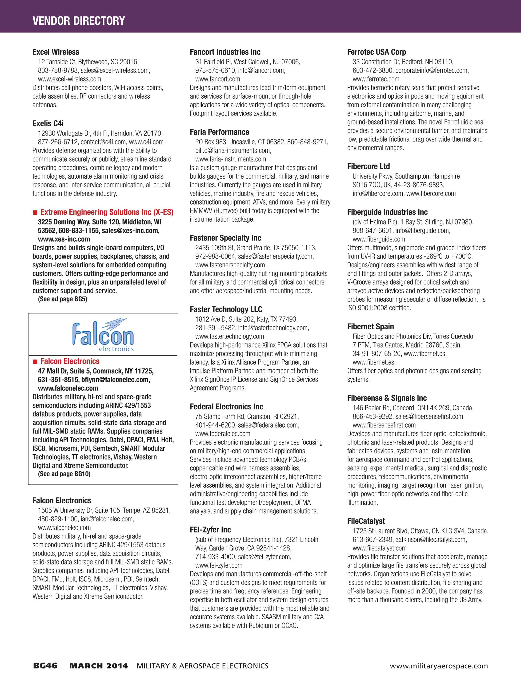 Military & Aerospace Electronics - Buyers Guide 2014 - page BG46