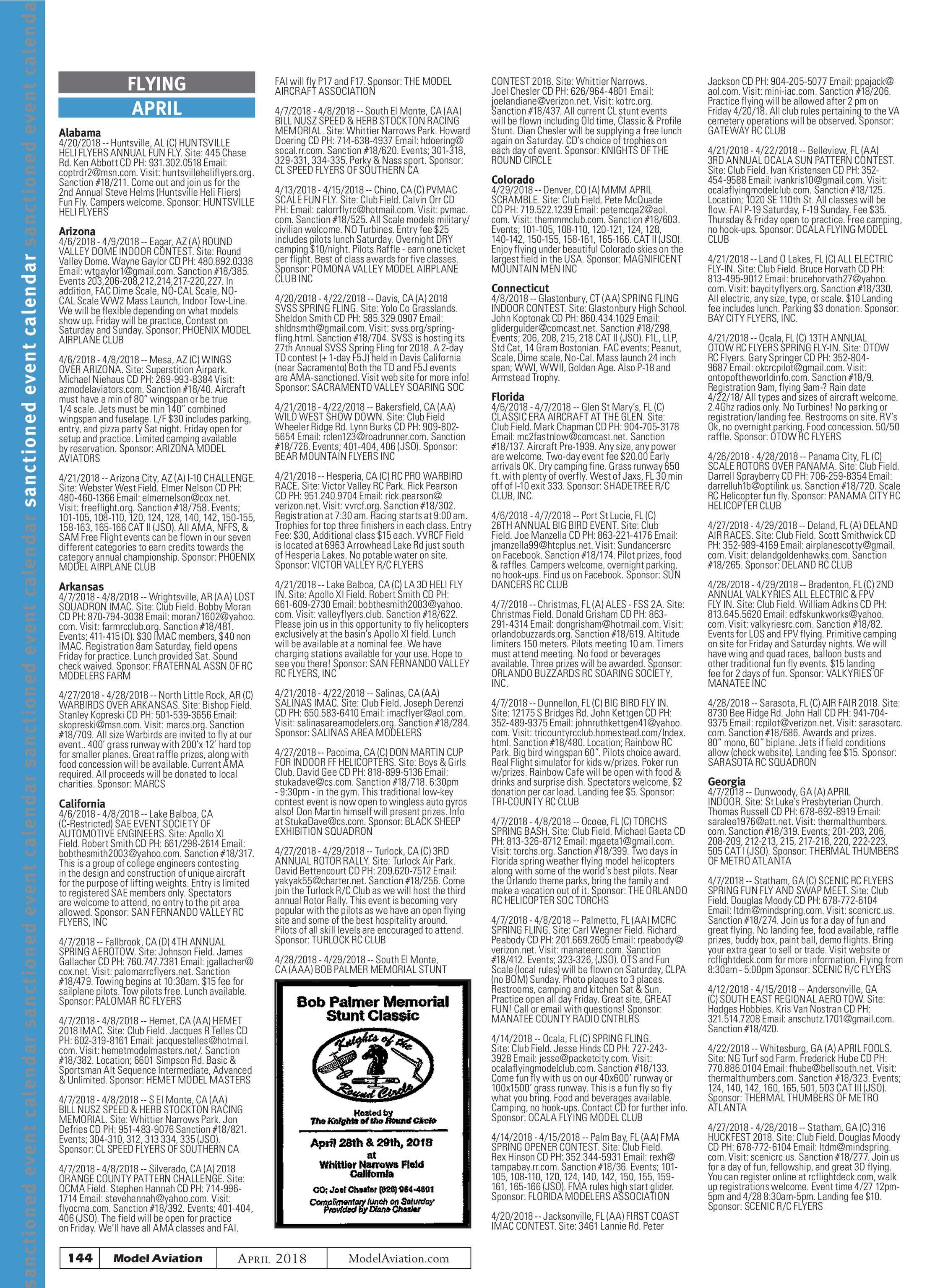 Model Aviation - April 2018 - page 144