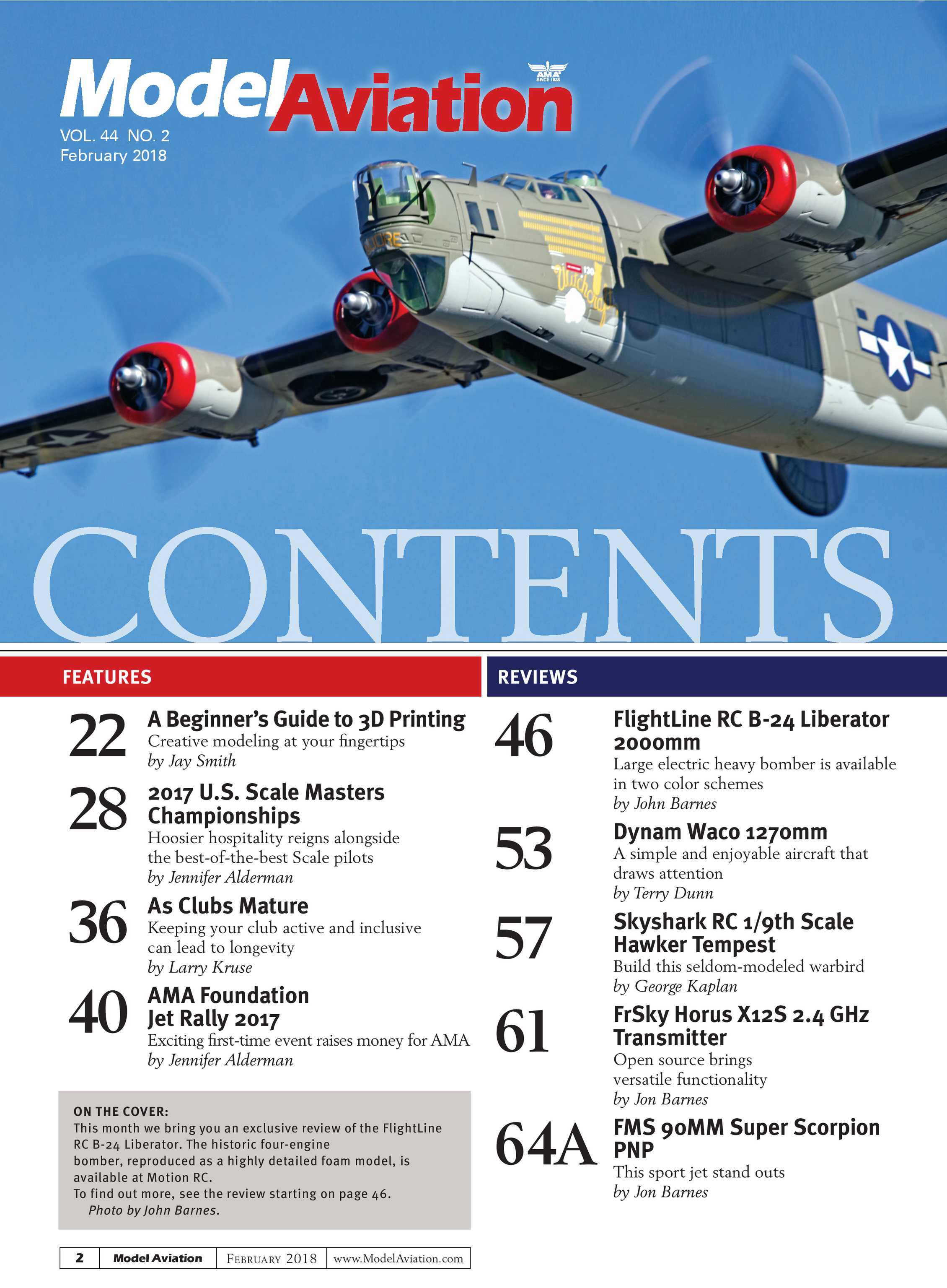 Model Aviation - February 2018 - page 2