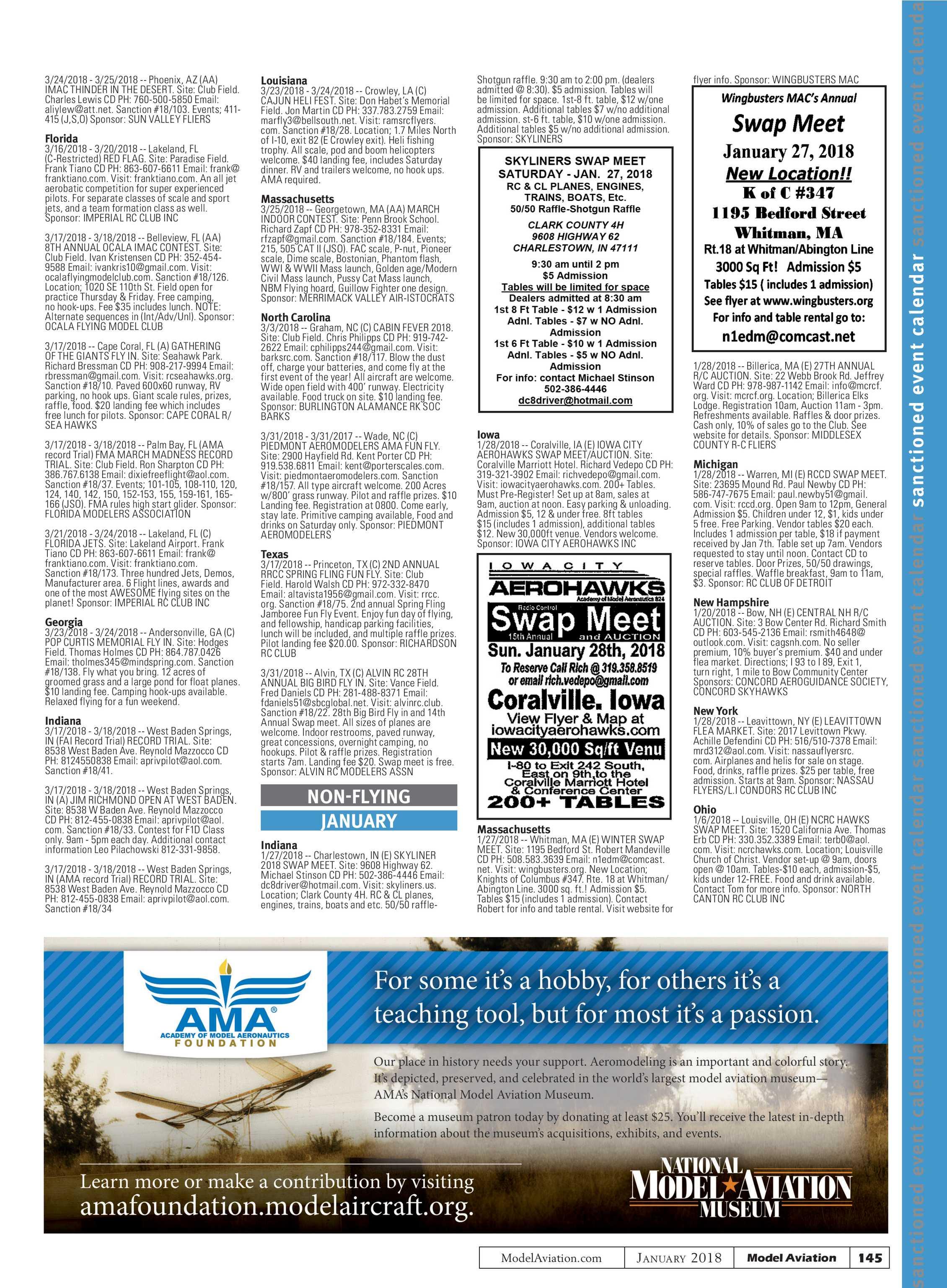 Model Aviation - January 2018 - page 144