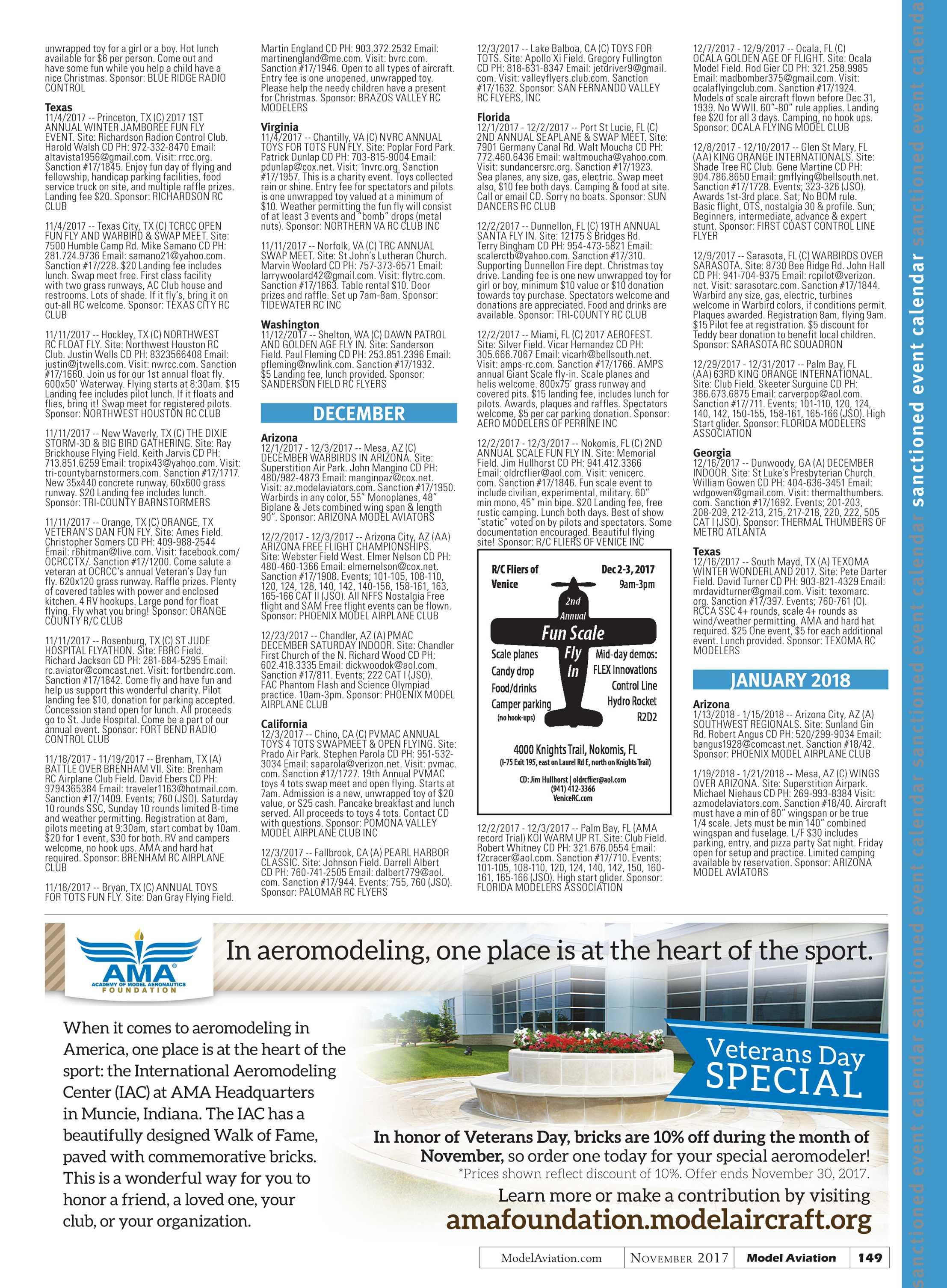 Model Aviation - November 2017 - page 148