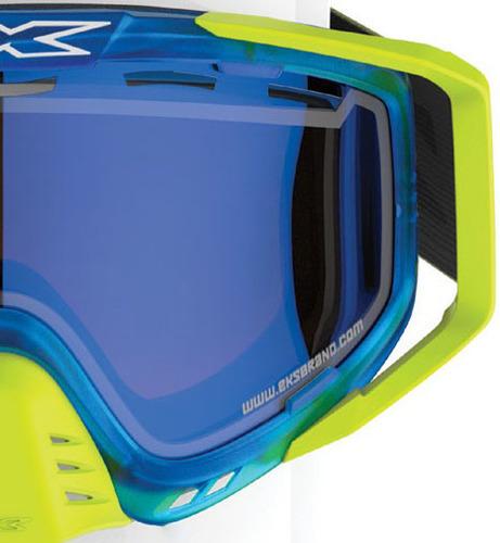 Eks Brand X-Grom Lens Youth Anti-Fog Mirrored SMOKE Goggles Black 067-42300