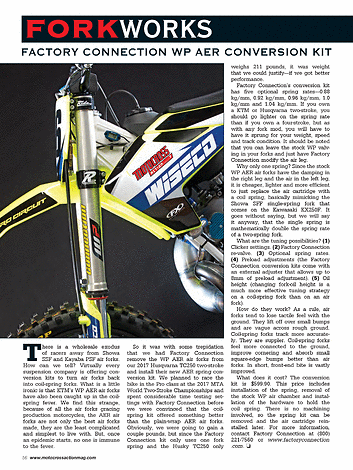 Motocross Action Magazine - August 2017 - Page 56-57